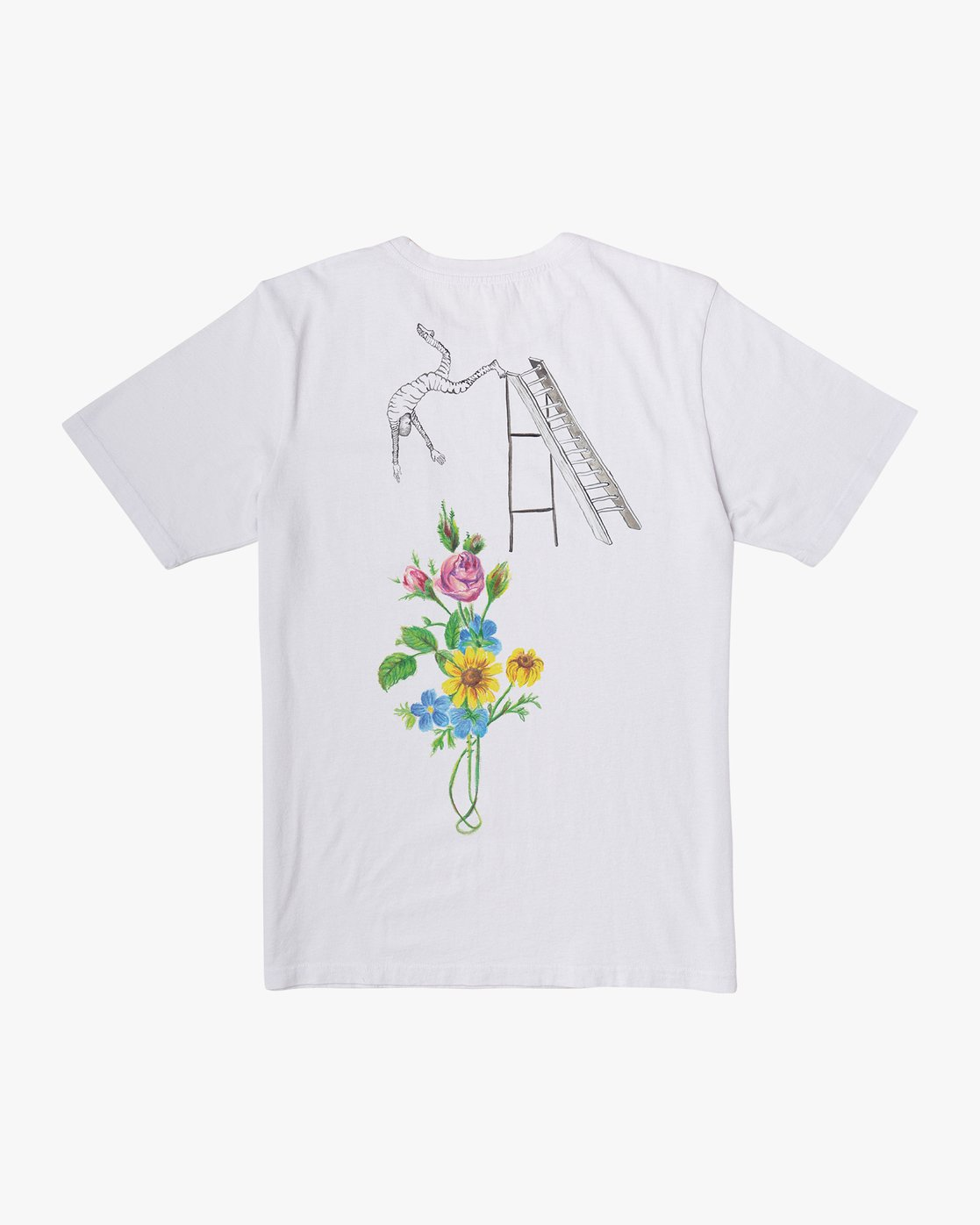 0 Spanky Sketchbook T-Shirt White M441WRSK RVCA