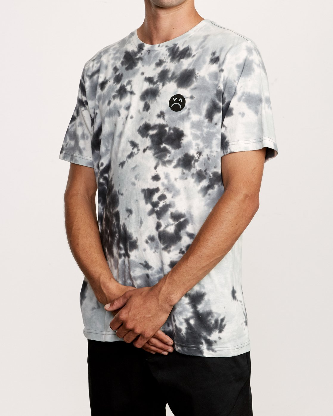 4 Happy Sad Tie Dye T-Shirt Black M446VRHS RVCA