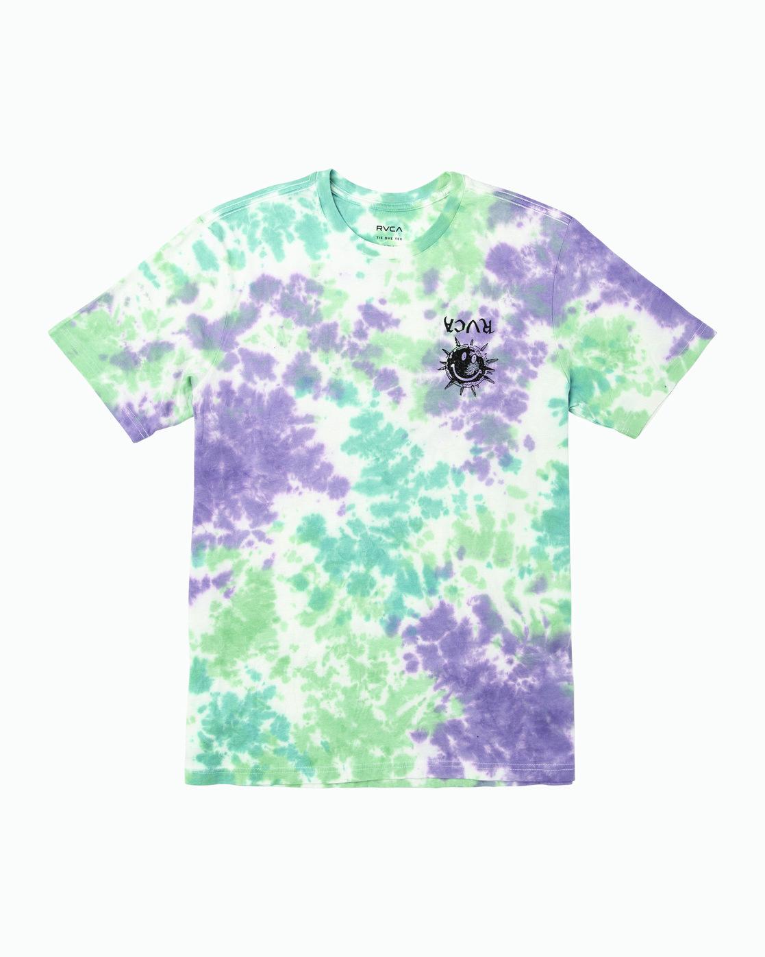 1 Morning Star Tie Dye T-Shirt Grey M446WRMO RVCA