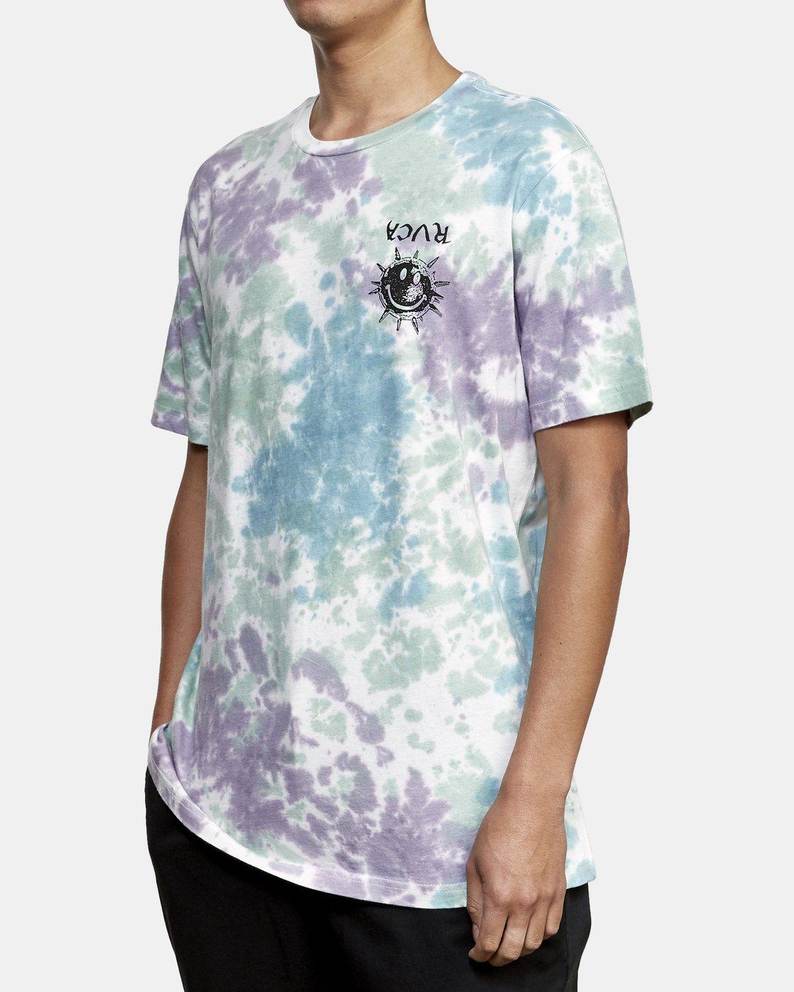 3 Morning Star Tie Dye T-Shirt Grey M446WRMO RVCA