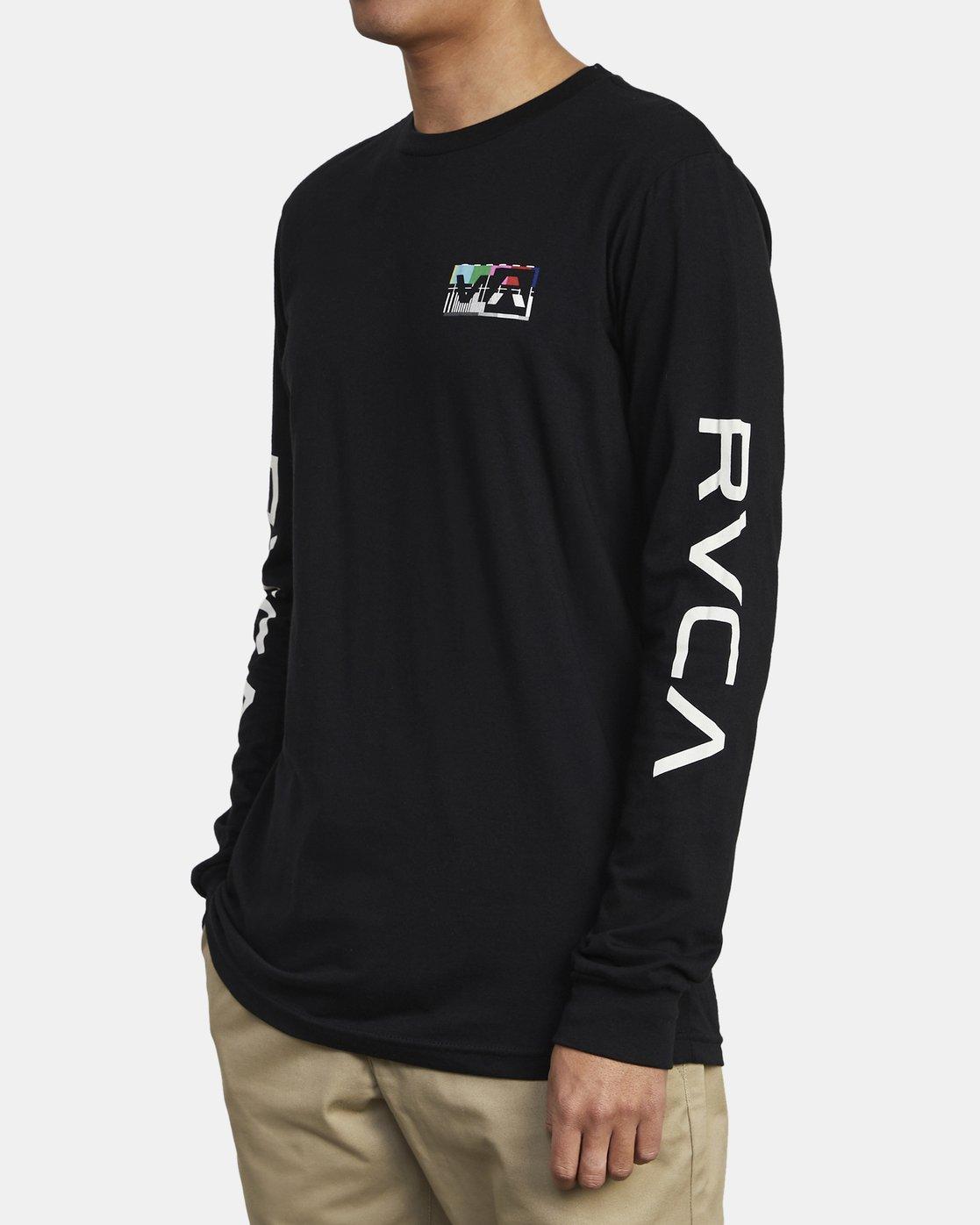 4 TESTING LONG SLEEVE T-SHIRT Black M4511RTE RVCA