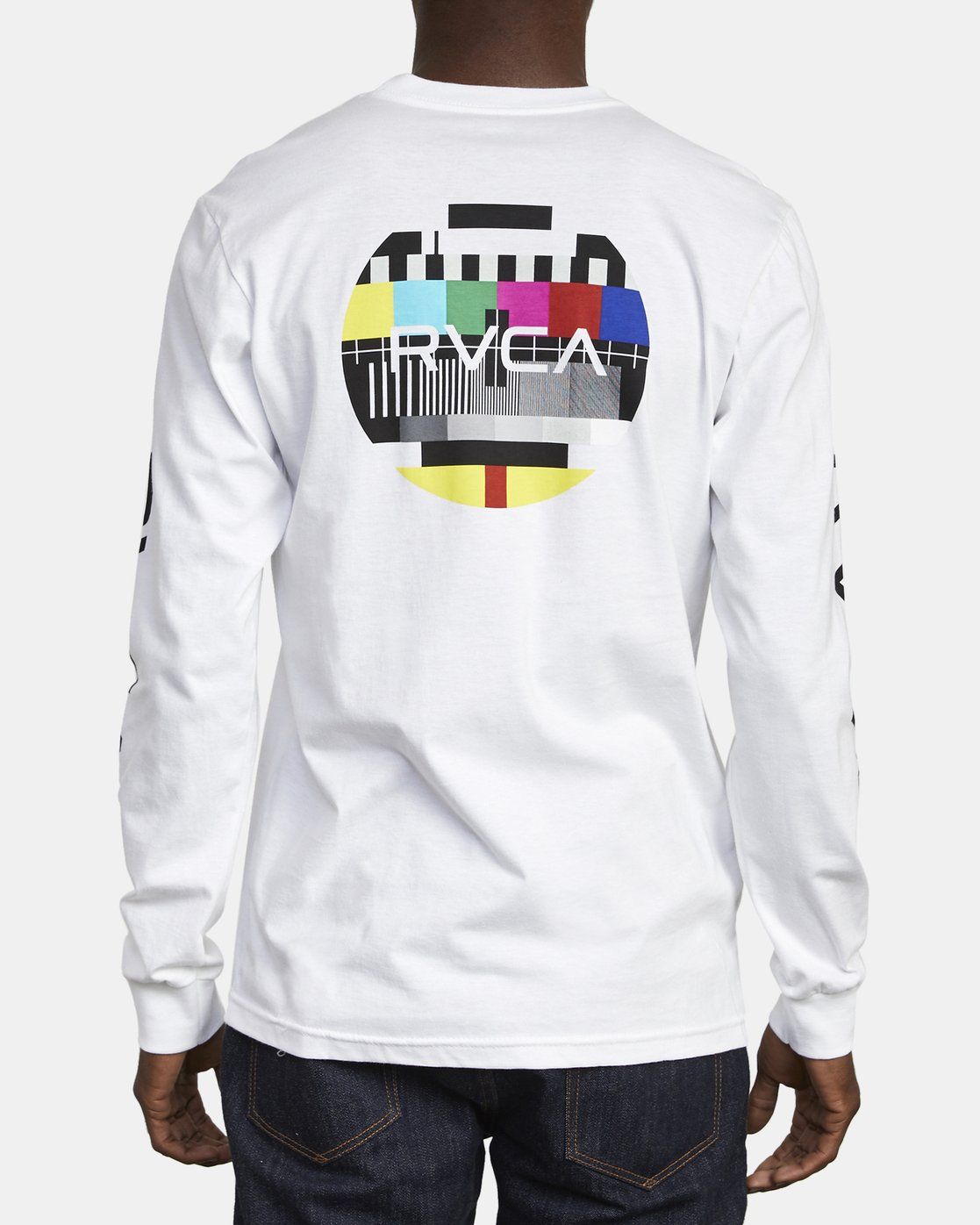 6 TESTING LONG SLEEVE T-SHIRT White M4511RTE RVCA