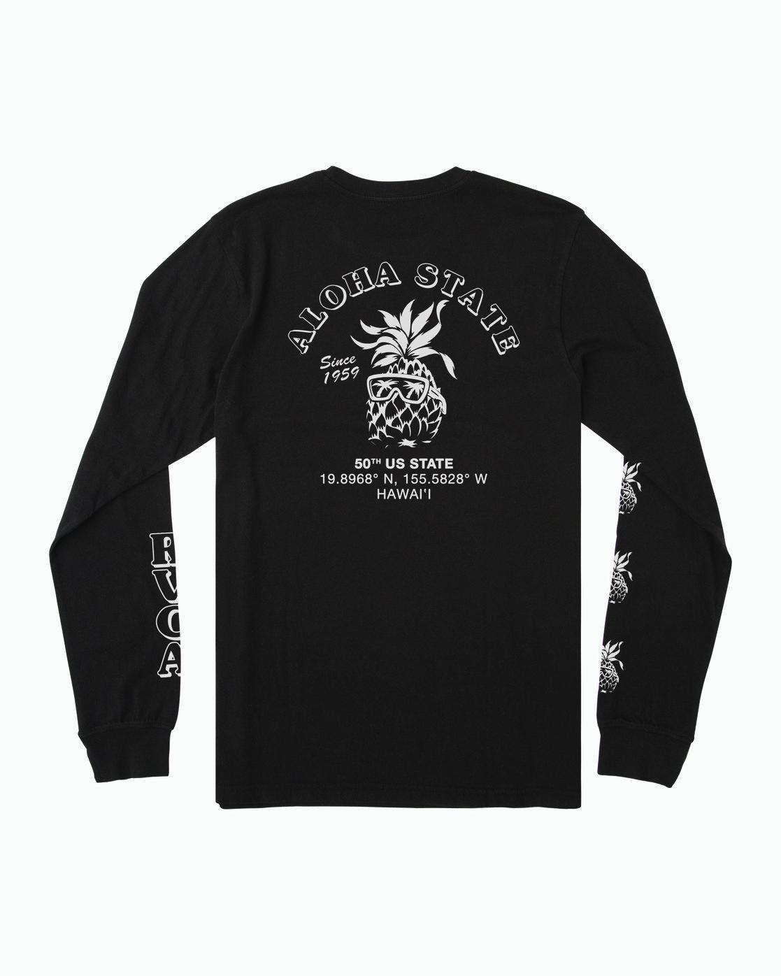 1 ALOHA SHOP LONG SLEEVE T-SHIRT Black M4512RAS RVCA