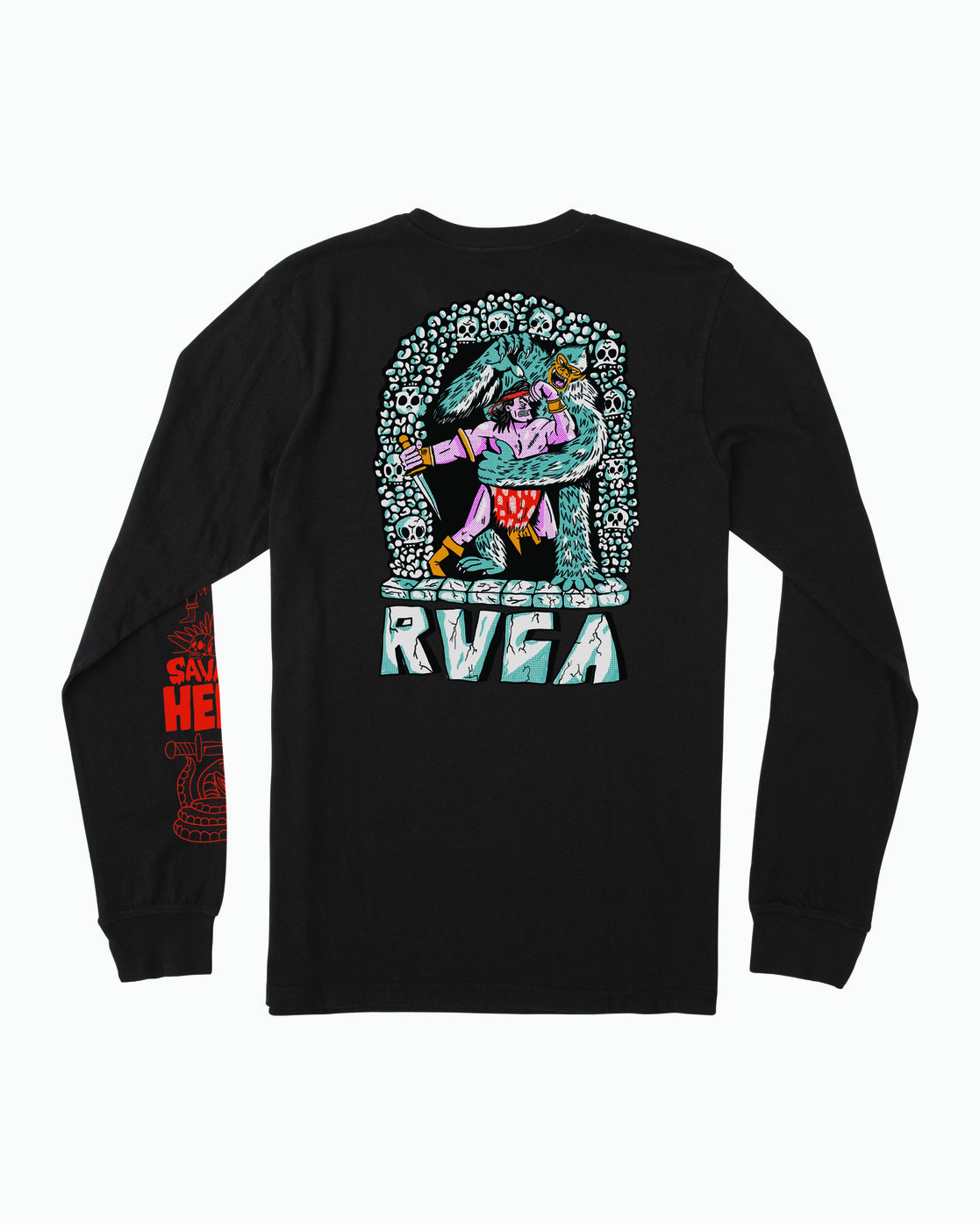 1 BARBARIAN LONG SLEEVE TEE Black M4513RBA RVCA