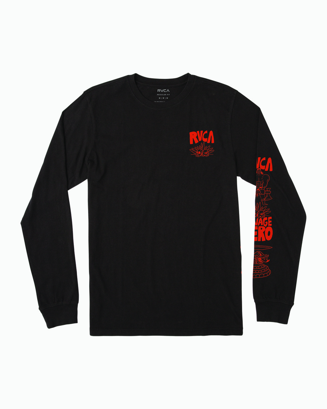 0 BARBARIAN LONG SLEEVE TEE Black M4513RBA RVCA
