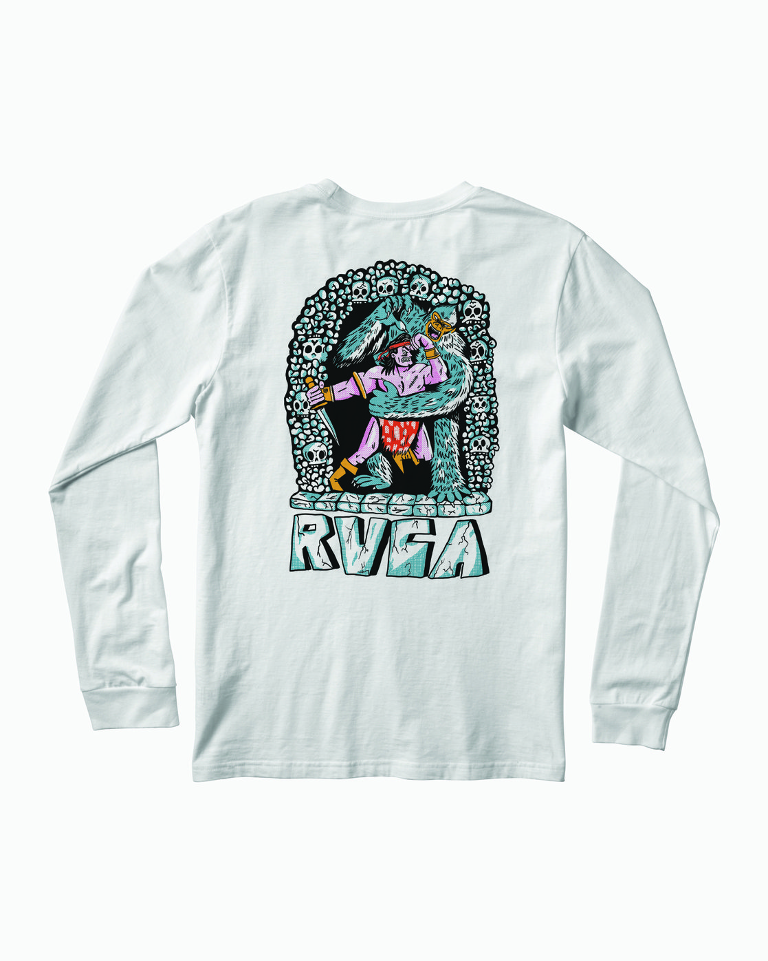 1 BARBARIAN LONG SLEEVE TEE White M4513RBA RVCA