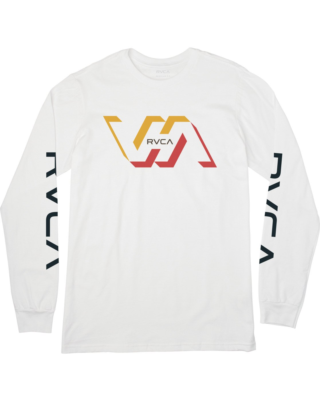 0 FACETS LONG SLEEVE TEE White M4513RFA RVCA