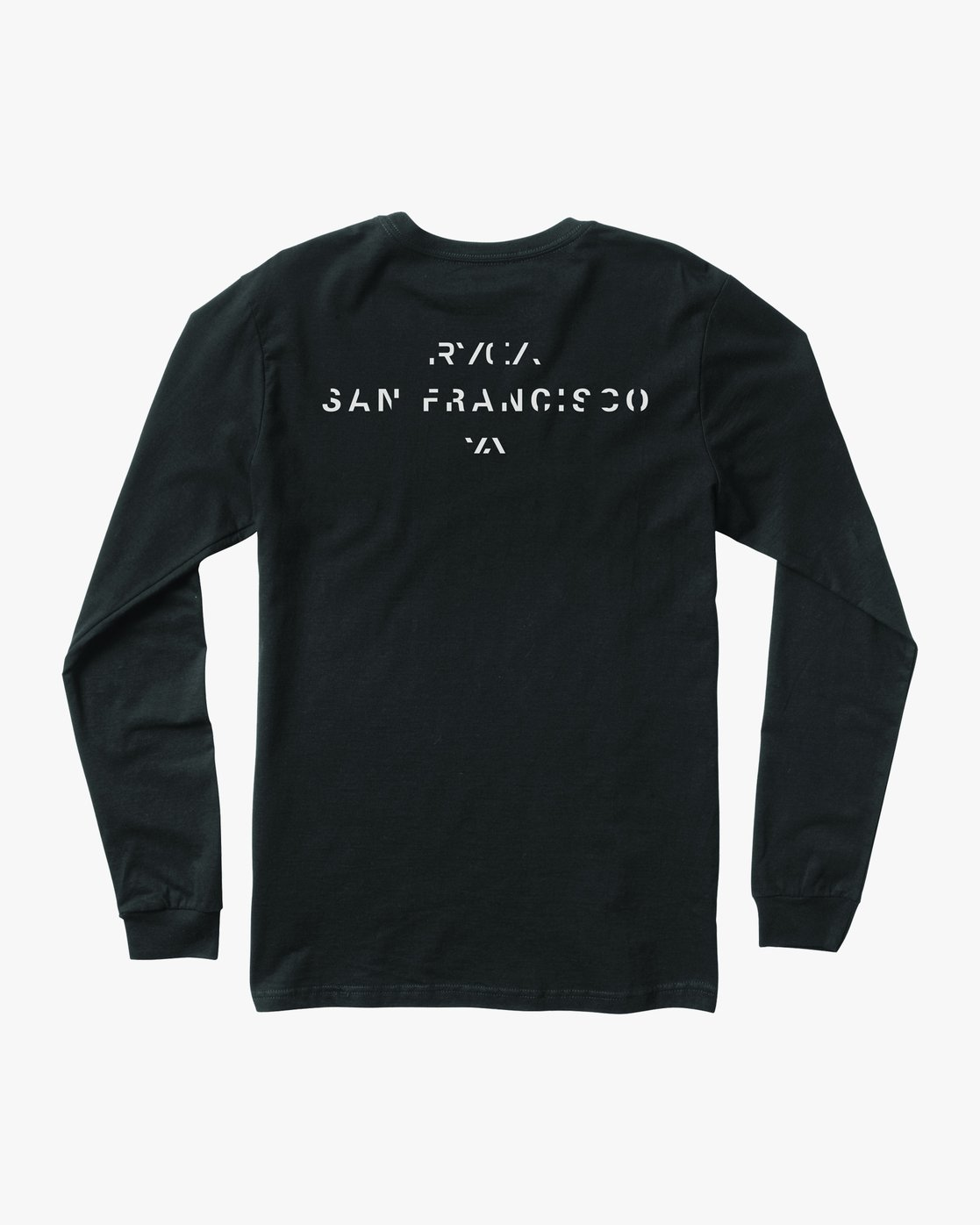 1 SF Stencil Long Sleeve T-Shirt Black M451MRTE RVCA