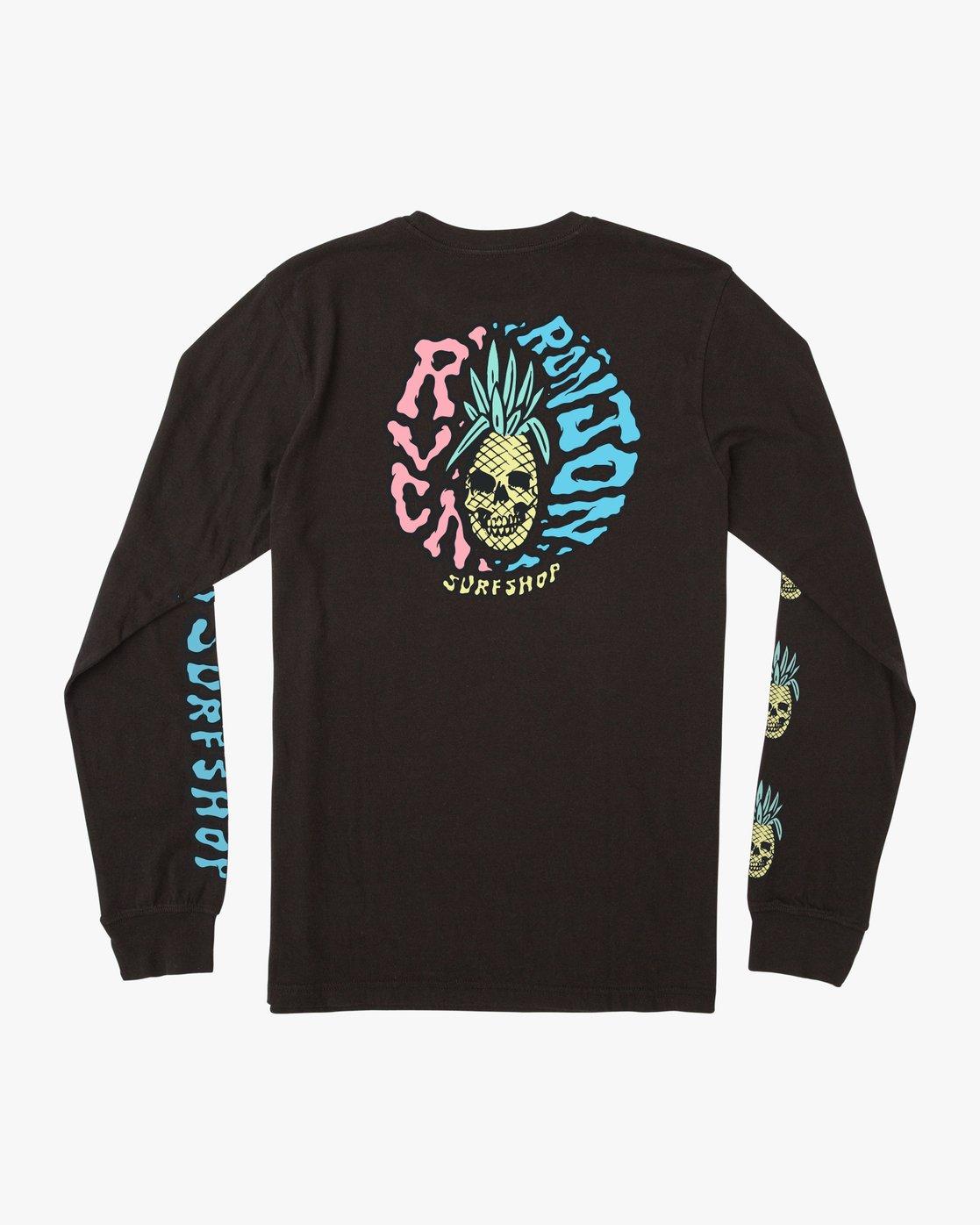 1 Psycho Long Sleeve T-Shirt Black M451PRPF RVCA