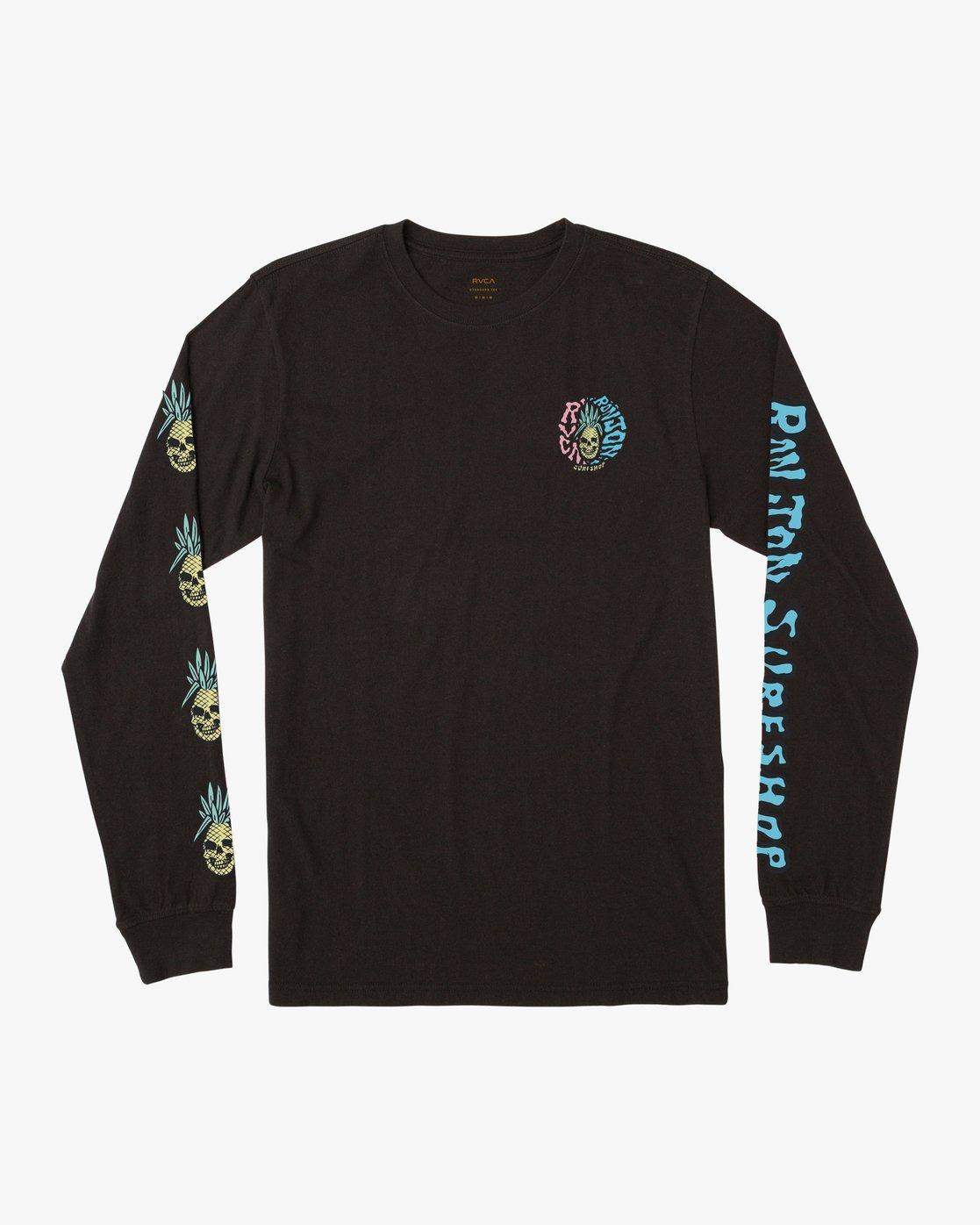 0 Psycho Long Sleeve T-Shirt Black M451PRPF RVCA