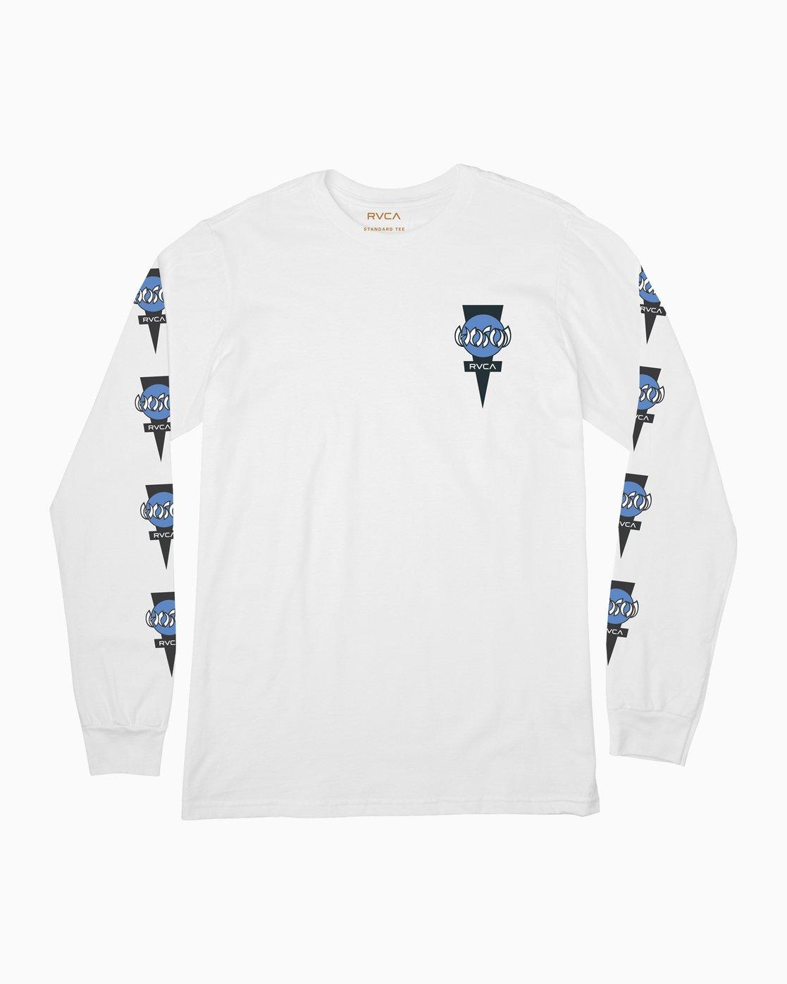 0 Christian Hosoi Long Sleeve T-Shirt White M451SRHS RVCA