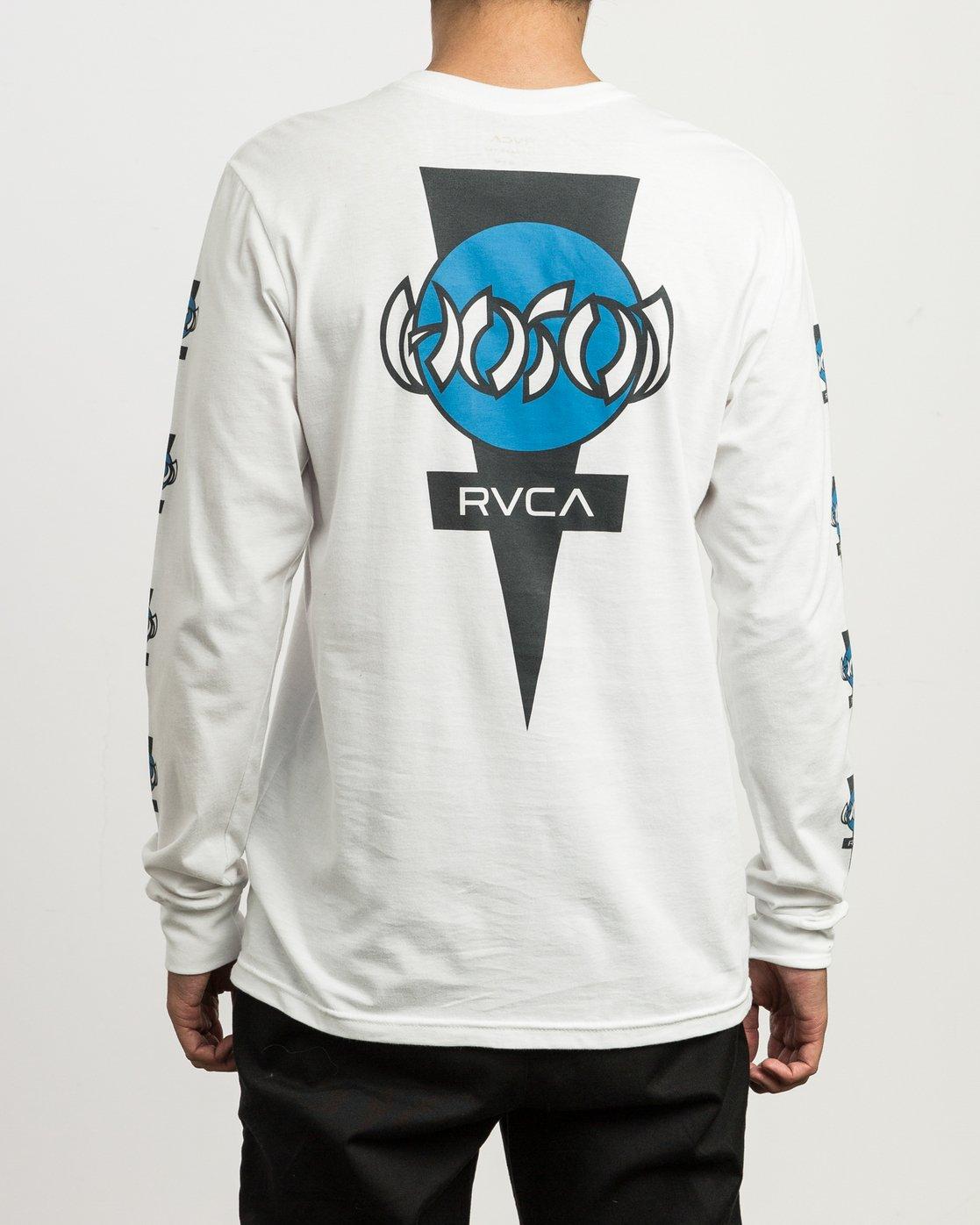 4 Christian Hosoi Long Sleeve T-Shirt White M451SRHS RVCA
