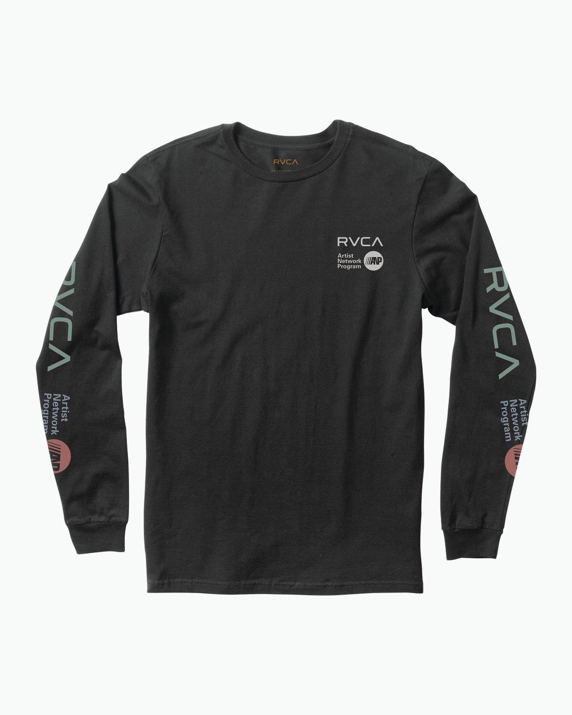 0 RVCA ANP Long Sleeve T-Shirt  M451SRRV RVCA