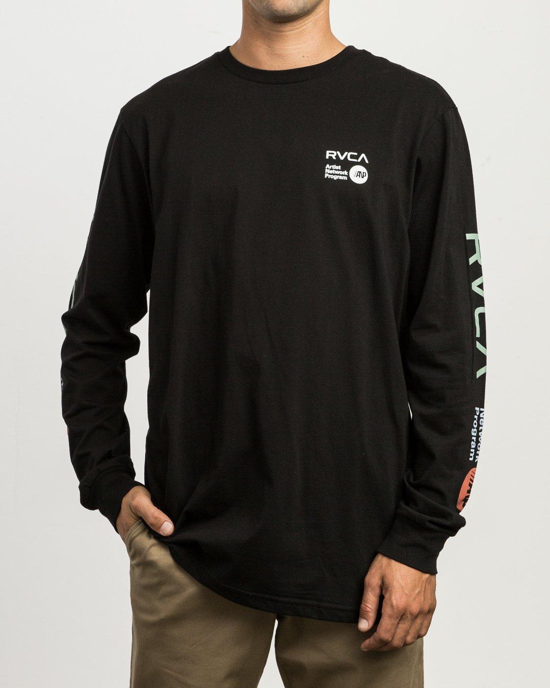3 RVCA ANP Long Sleeve T-Shirt  M451SRRV RVCA