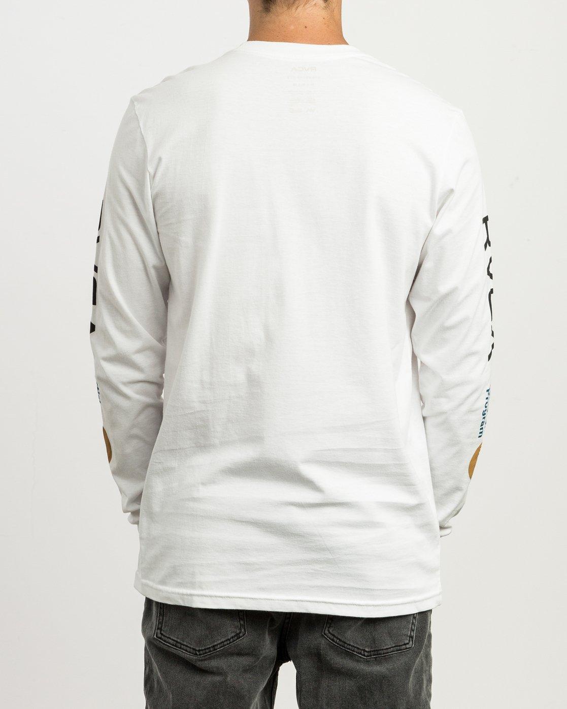 4 RVCA ANP Long Sleeve T-Shirt White M451SRRV RVCA