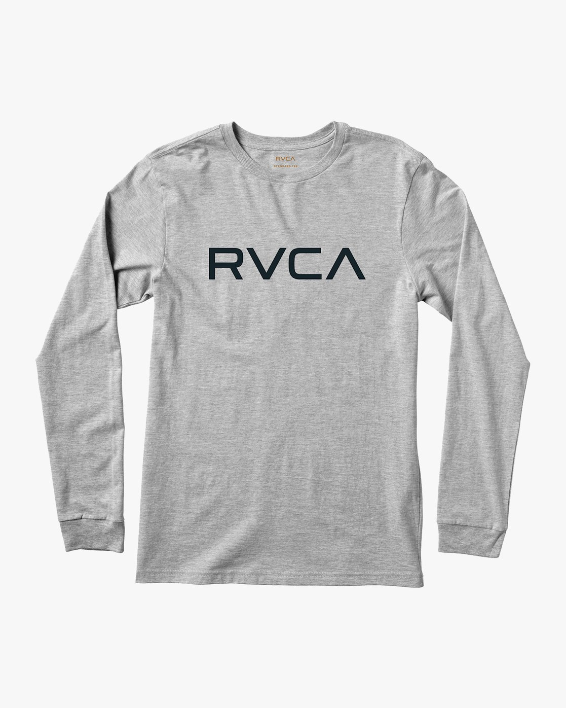 0 Big RVCA Long Sleeve T-Shirt Grey M451TRBI RVCA