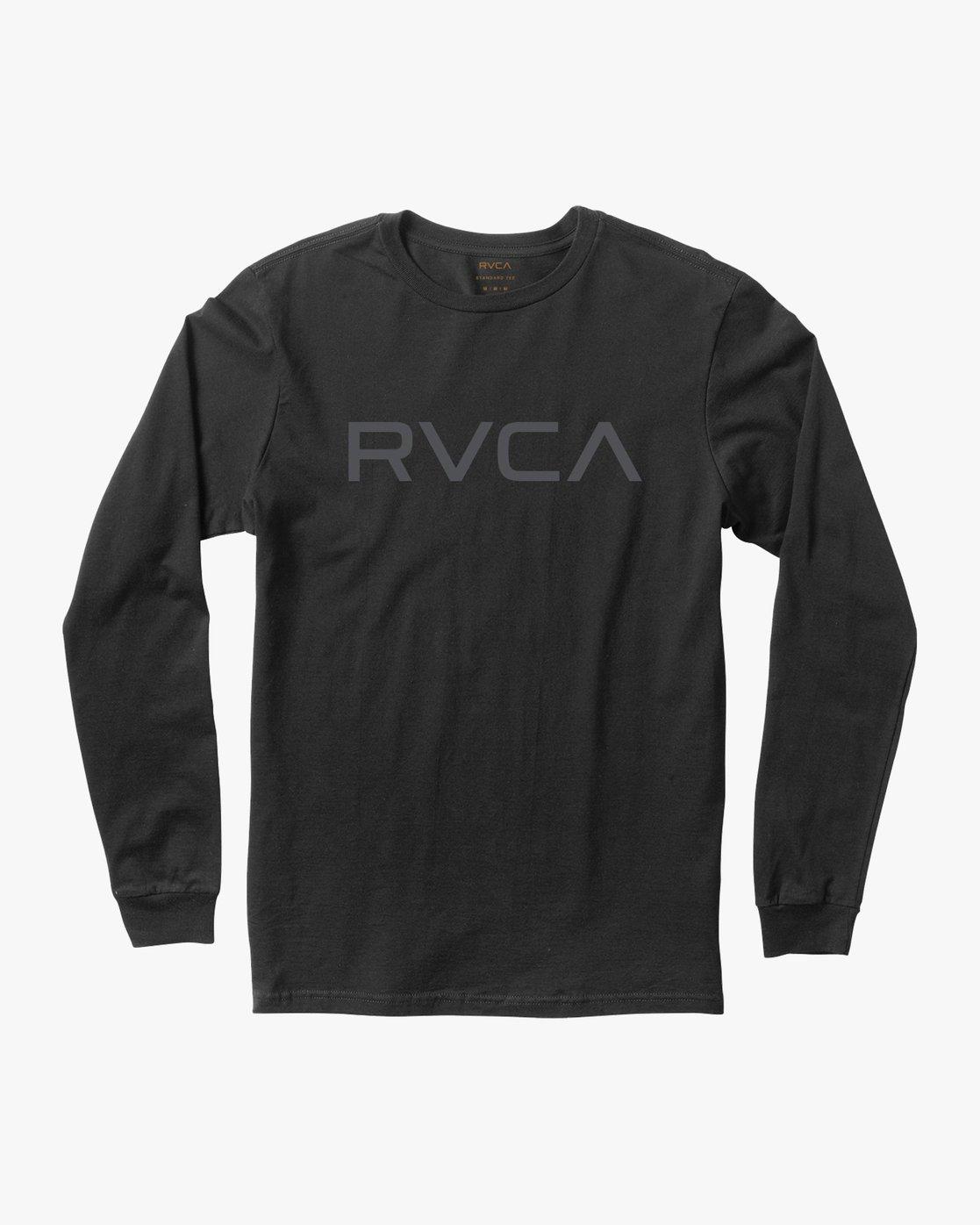 0 Big RVCA Long Sleeve T-Shirt Black M451TRBI RVCA