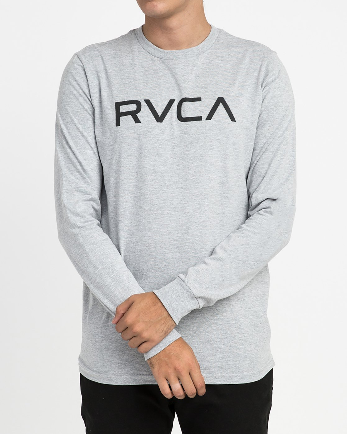 1 Big RVCA Long Sleeve T-Shirt Grey M451TRBI RVCA