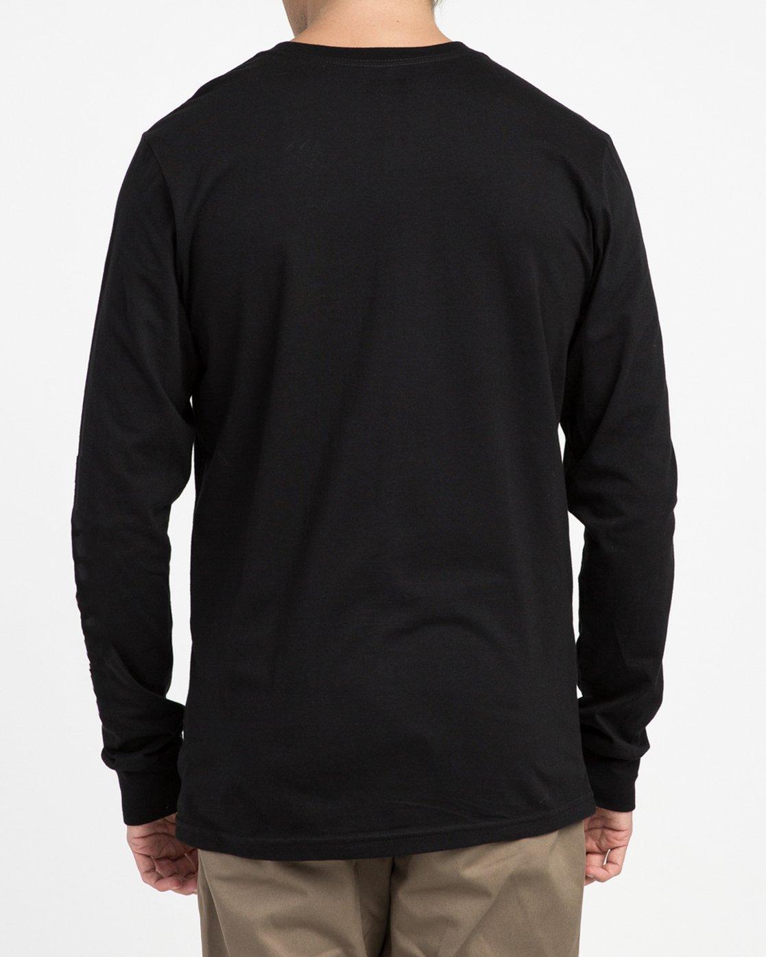 2 Big RVCA Long Sleeve T-Shirt Black M451TRBI RVCA