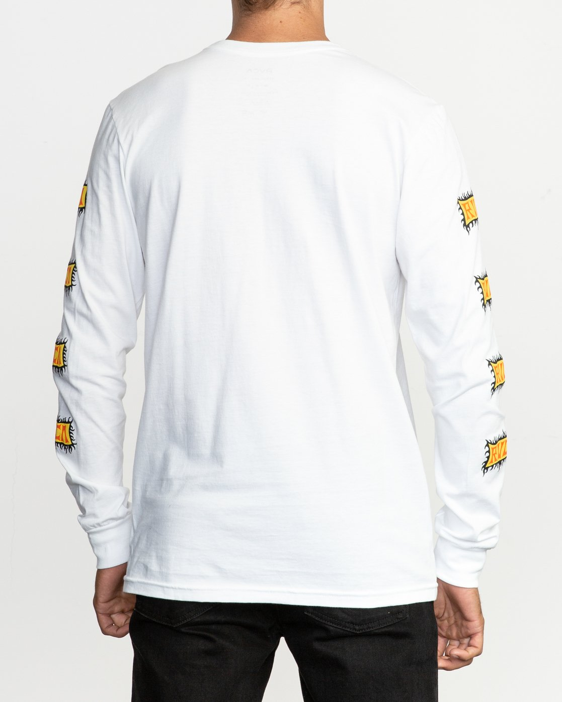 4 Crawling Long Sleeve T-Shirt White M451TRCR RVCA