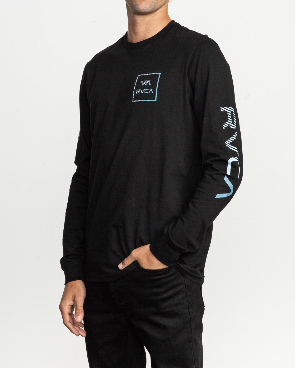 2 Segment Long Sleeve T-Shirt Black M451TRSE RVCA