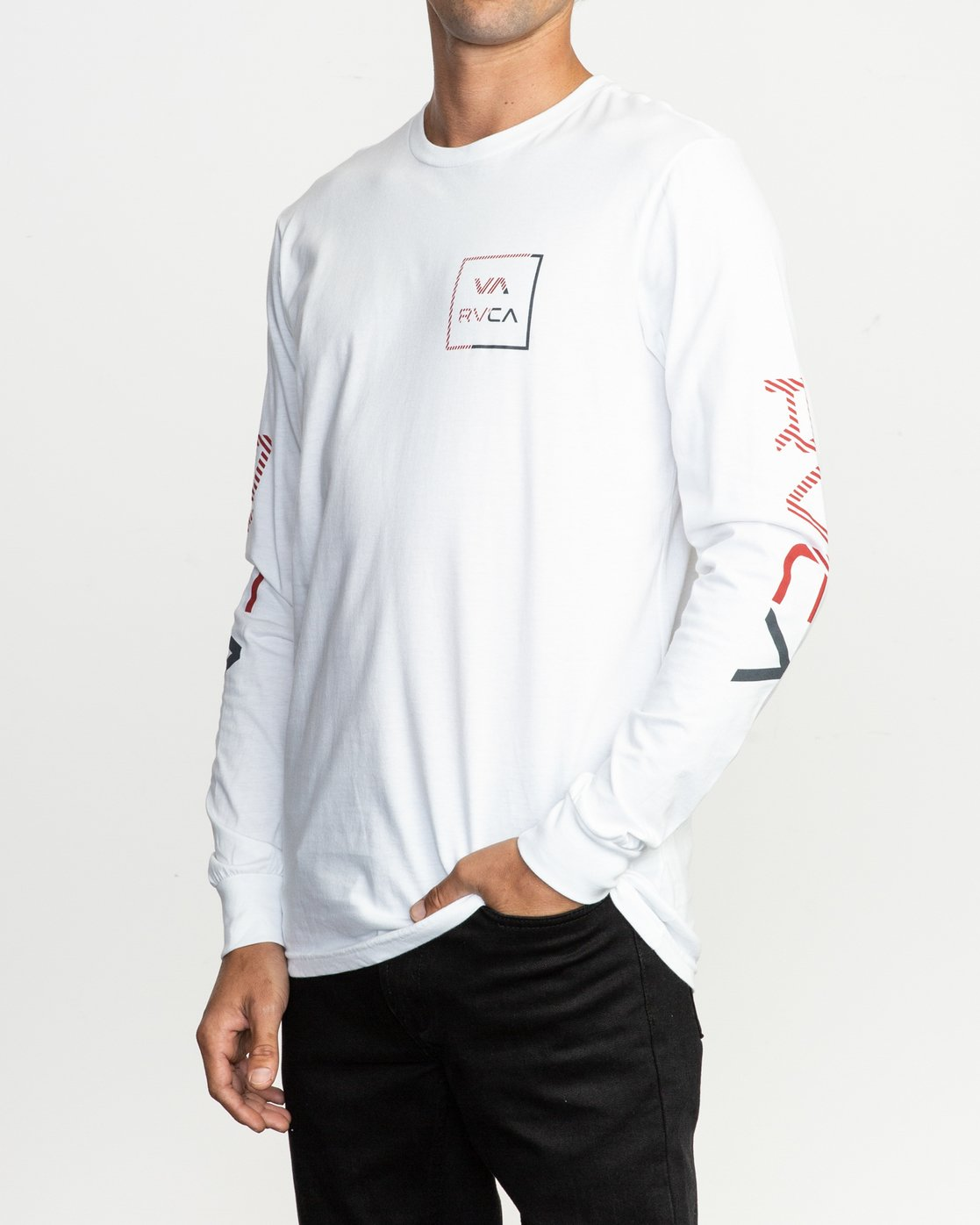 2 Segment Long Sleeve T-Shirt White M451TRSE RVCA