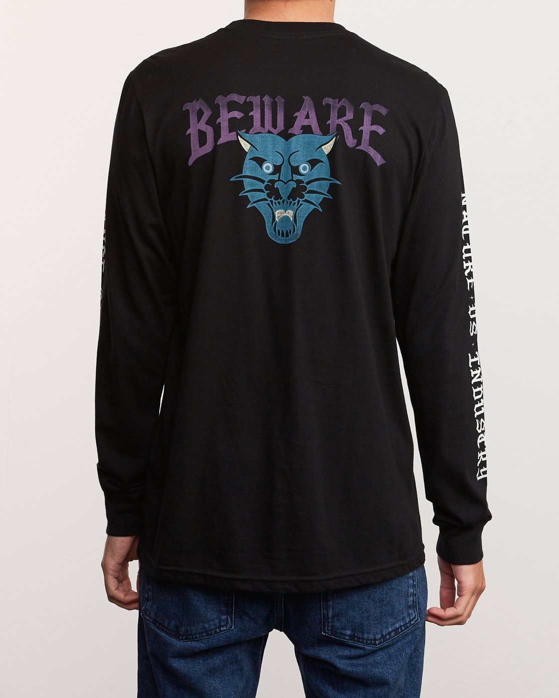 4 Suzuki Beware Long Sleeve T-Shirt Black M451URBE RVCA