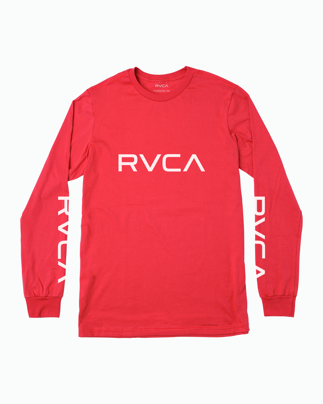 0 Big RVCA Long Sleeve T-Shirt Grey M451URBI RVCA
