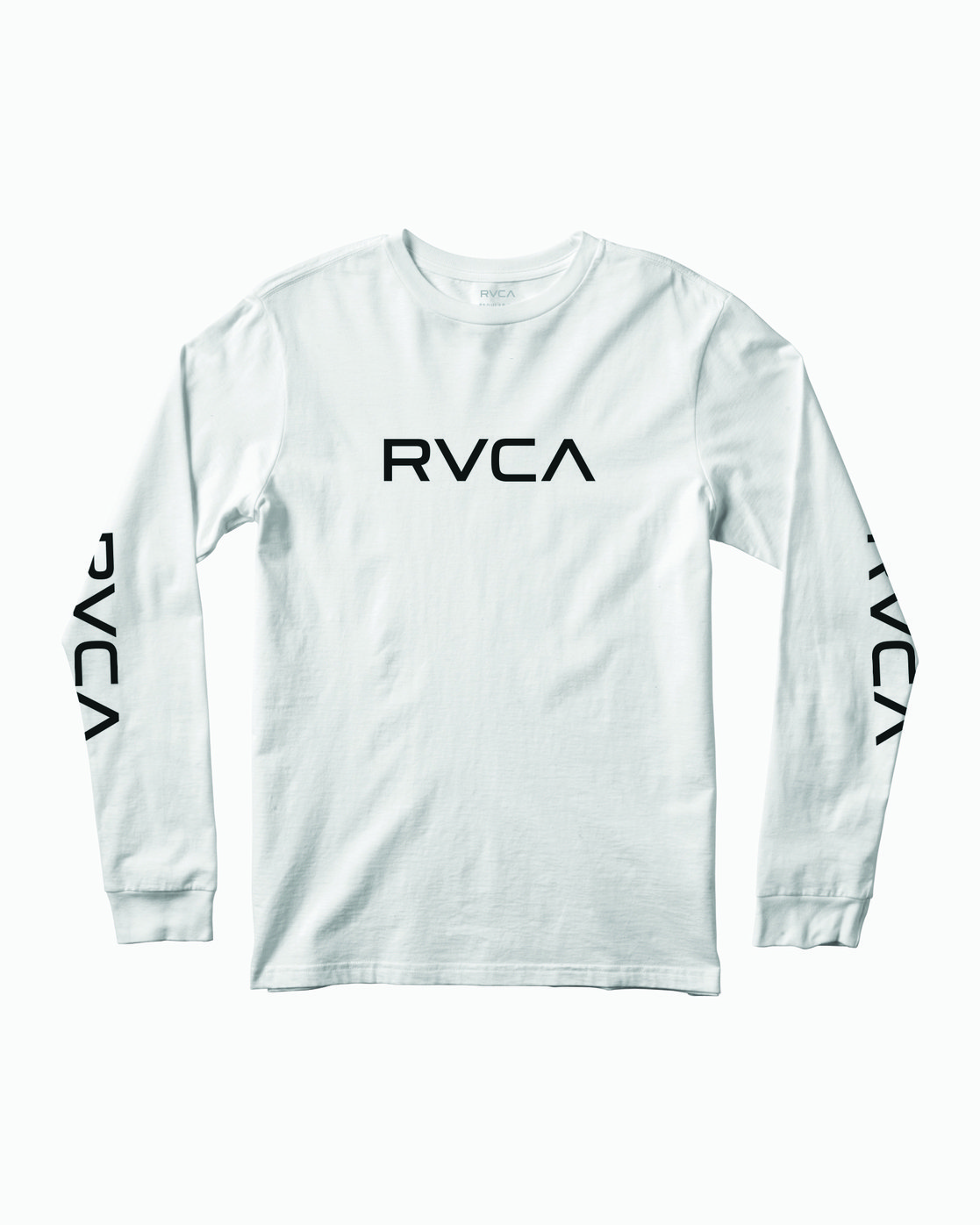 0 Big RVCA Long Sleeve T-Shirt White M451URBI RVCA