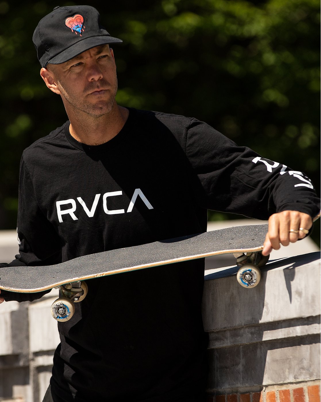 1 Big RVCA Long Sleeve T-Shirt Black M451URBI RVCA