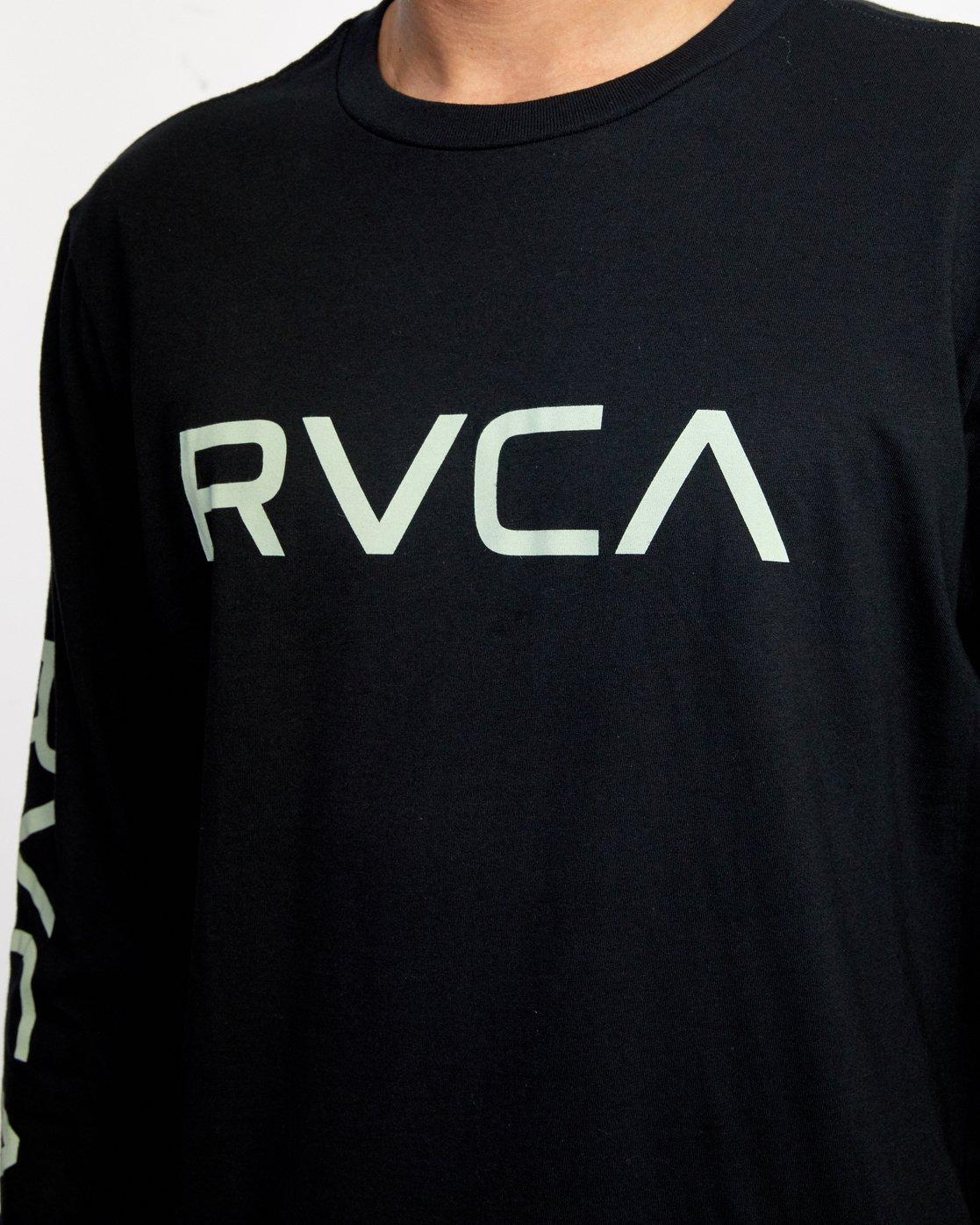 3 BIG RVCA LONG SLEEVE TEE Black M451URBI RVCA