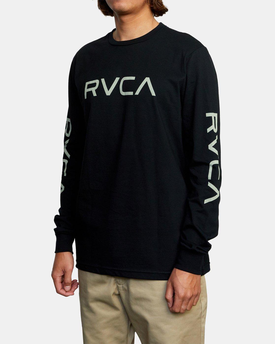 6 Big RVCA Long Sleeve TEE Black M451URBI RVCA