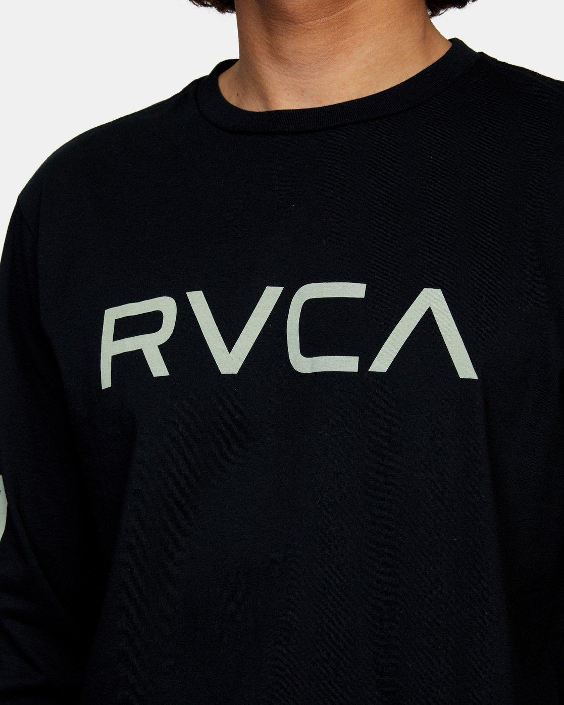 8 Big RVCA Long Sleeve TEE Black M451URBI RVCA
