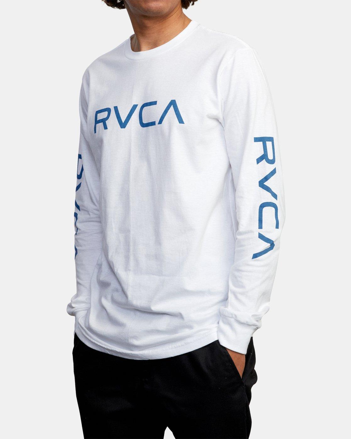 4 BIG RVCA LONG SLEEVE TEE White M451URBI RVCA