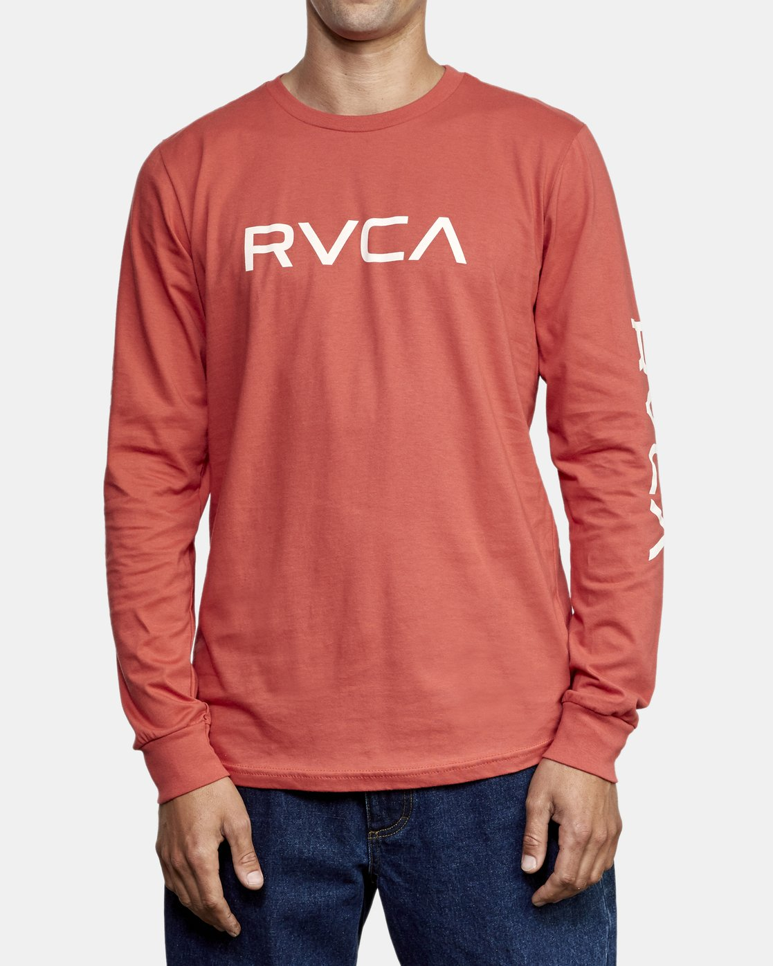 1 Big RVCA Long Sleeve T-Shirt Grey M451URBI RVCA