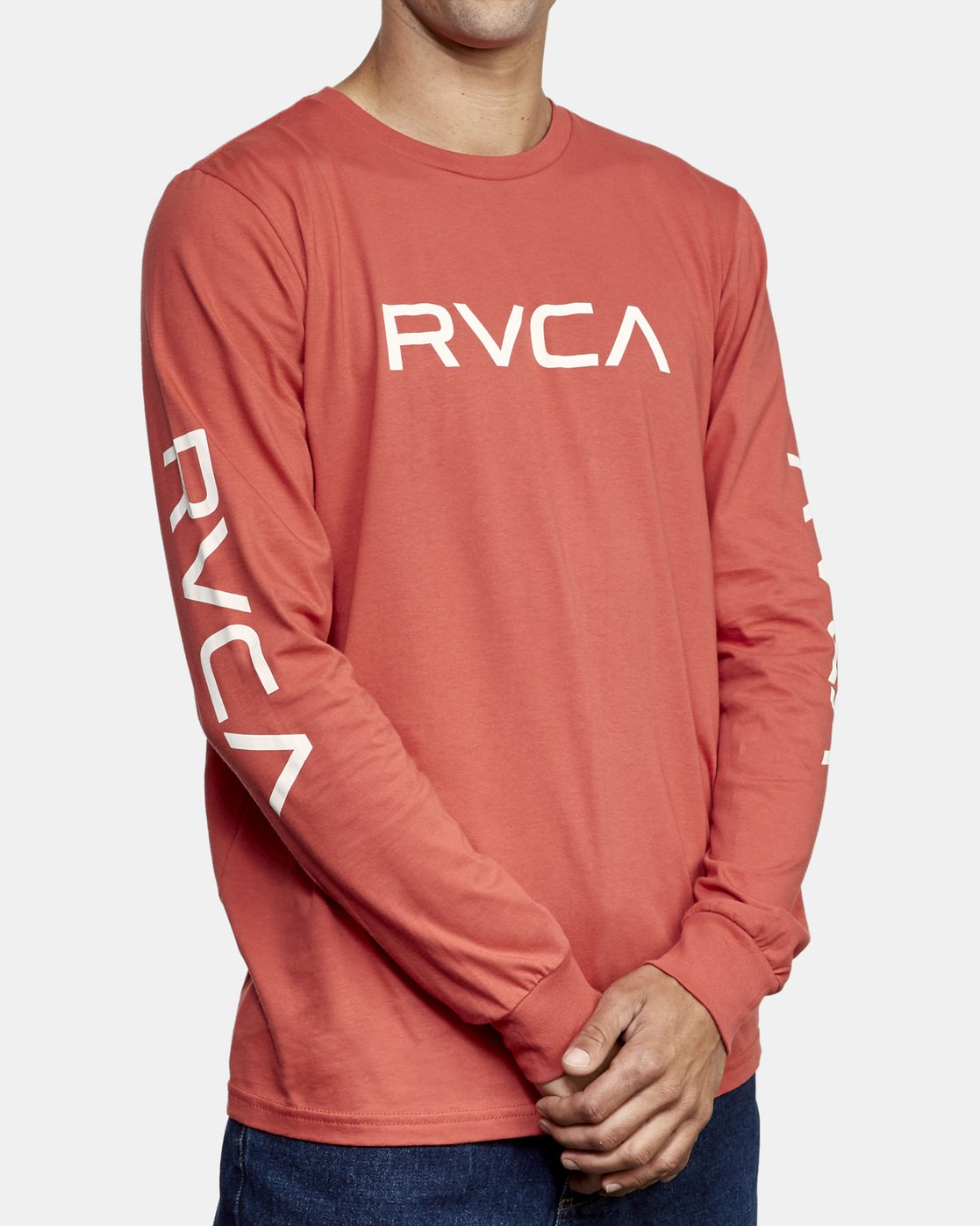 3 Big RVCA Long Sleeve T-Shirt Grey M451URBI RVCA