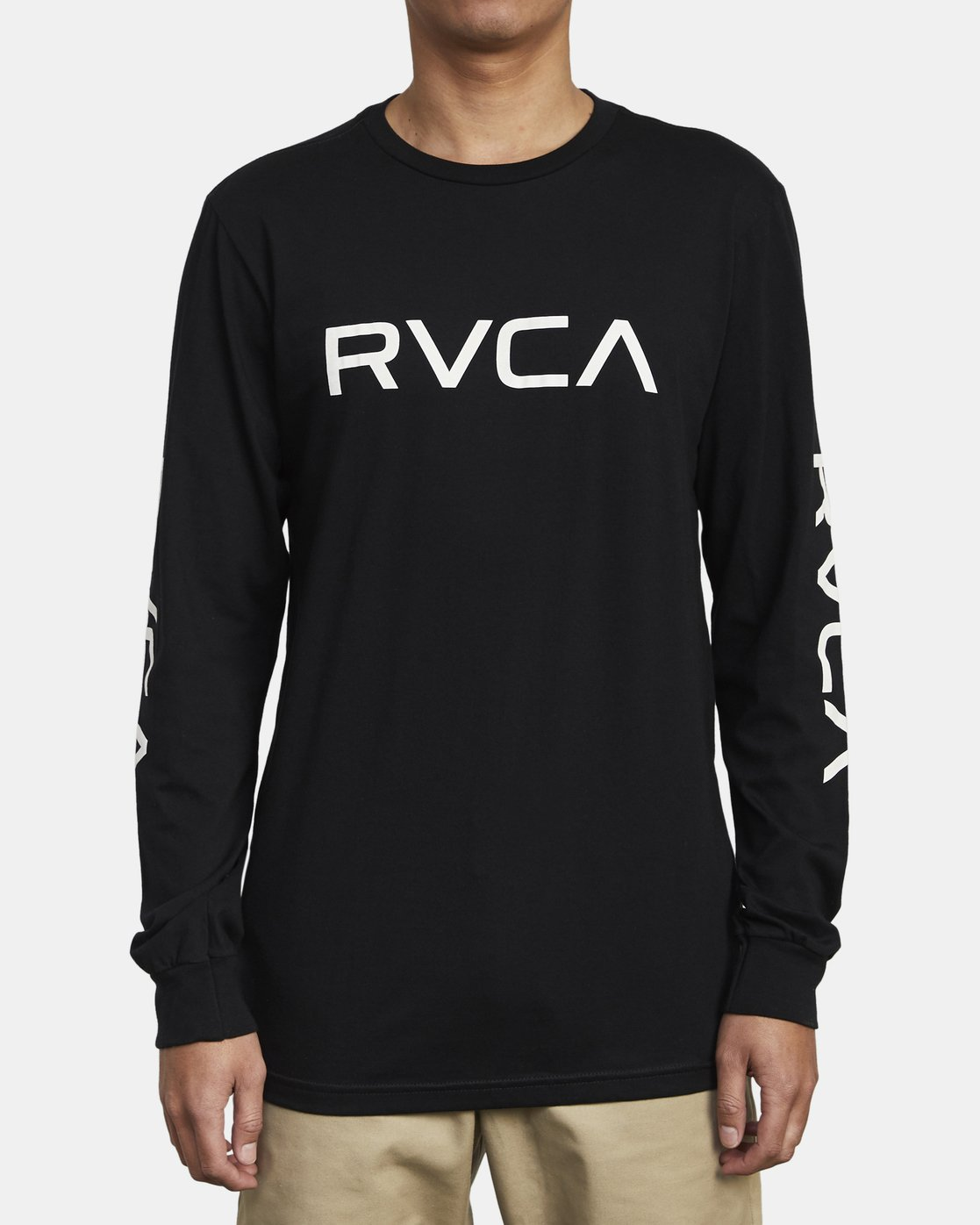 2 Big RVCA Long Sleeve T-Shirt Black M451URBI RVCA