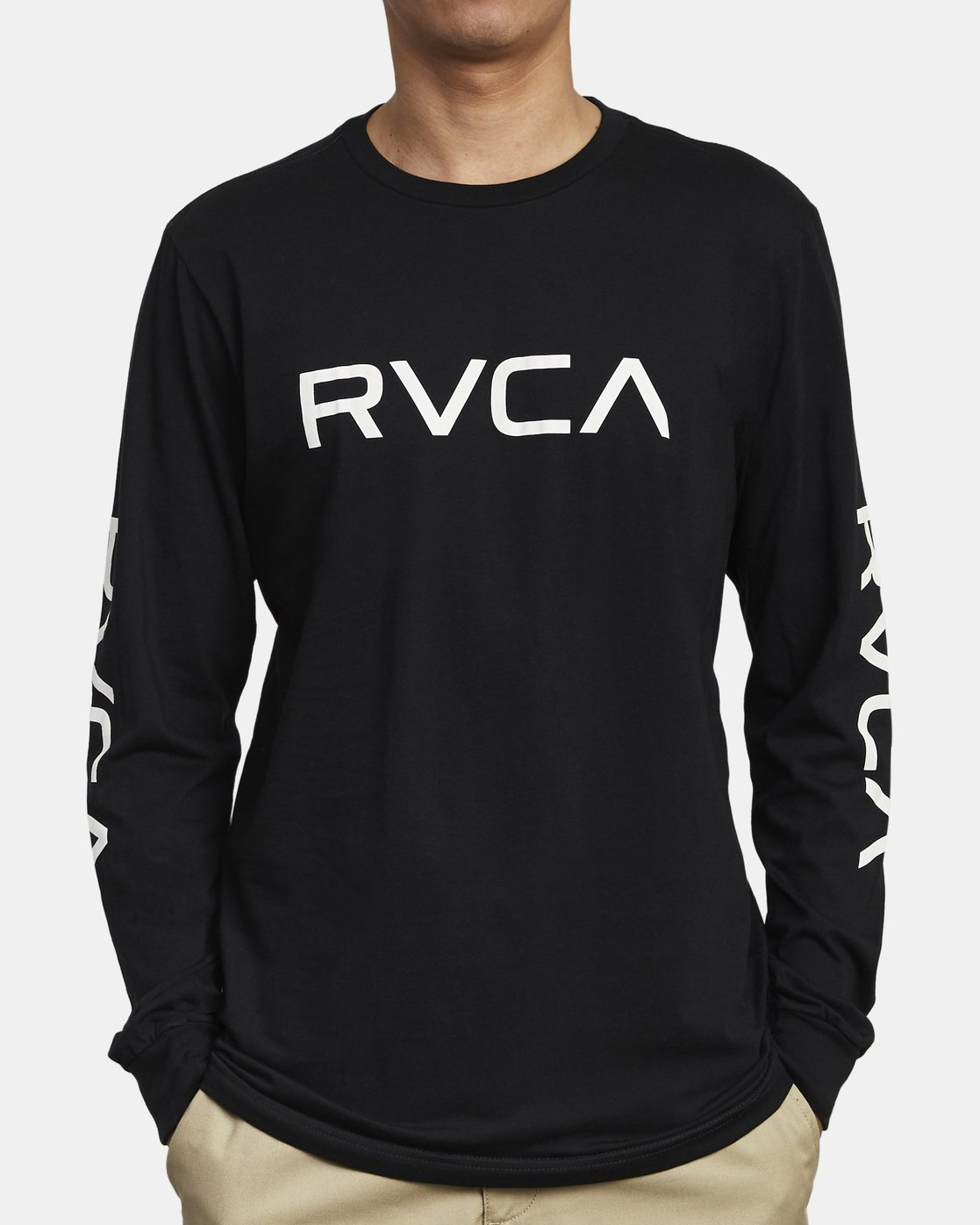 3 BIG RVCA LONG SLEEVE TEE  M451URBI RVCA