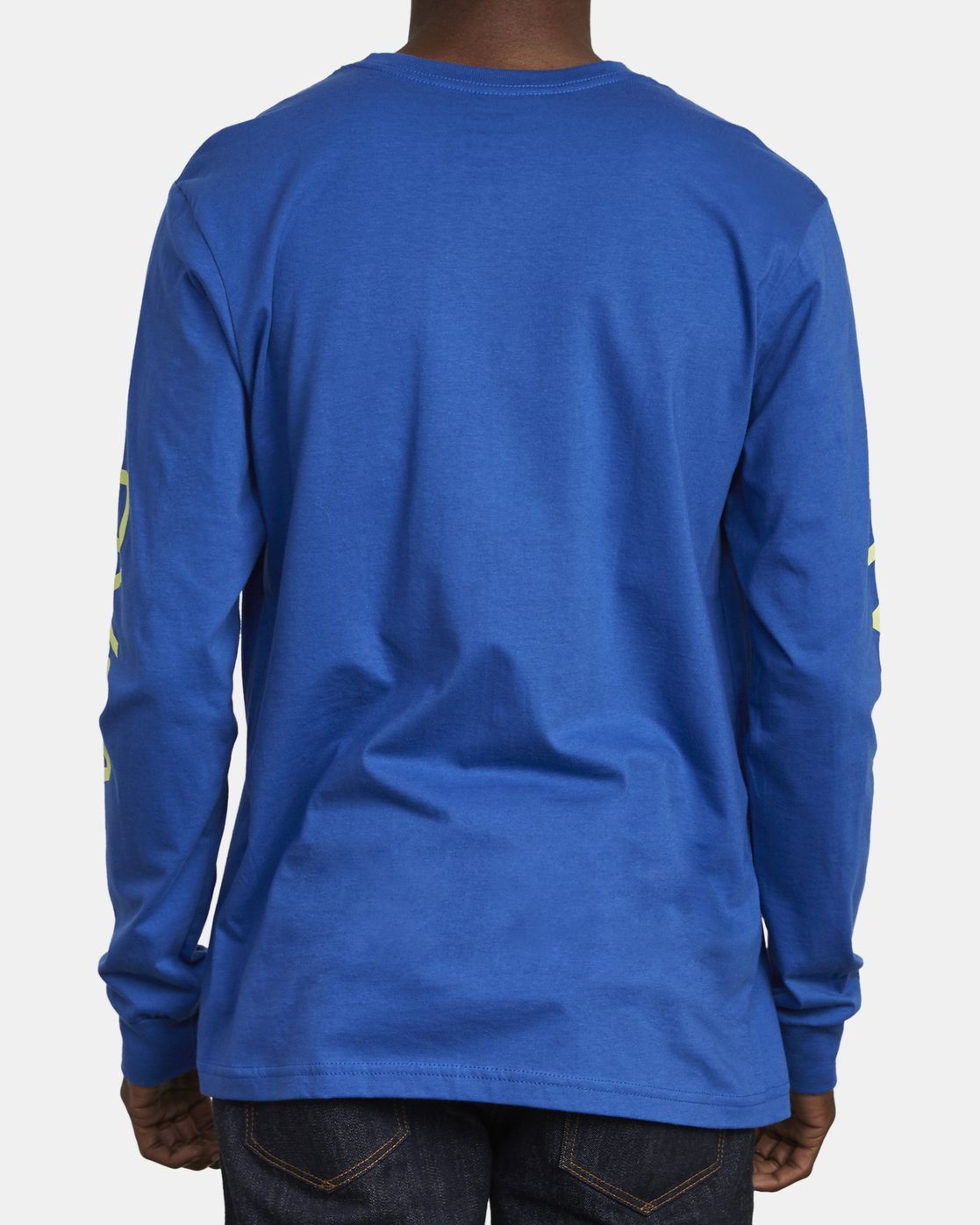 6 Big RVCA Long Sleeve T-Shirt Blue M451URBI RVCA