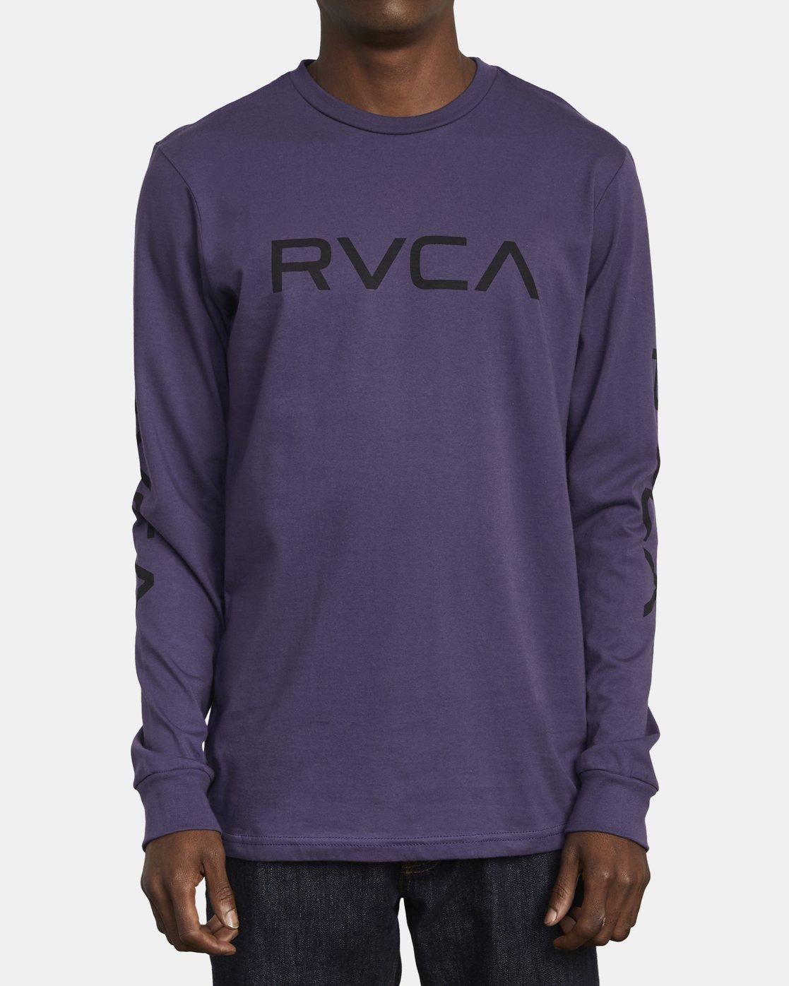 1 BIG RVCA LONG SLEEVE T-SHIRT  M451URBI RVCA