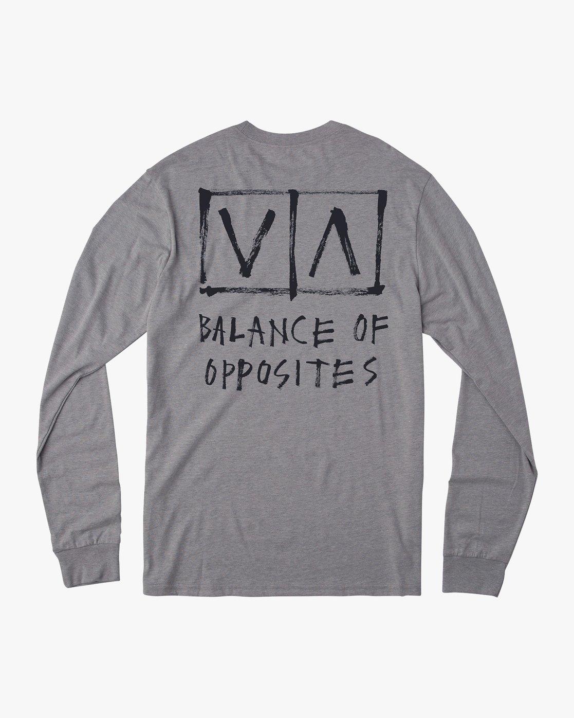 0 Ben Horton Box Long Sleeve T-Shirt Grey M451URHO RVCA