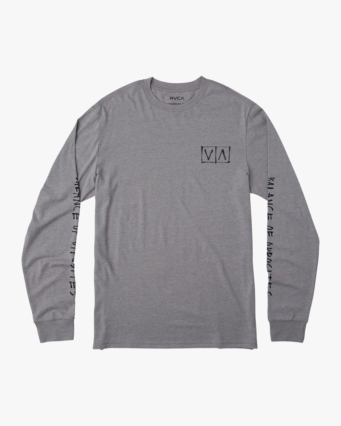 1 Ben Horton Box Long Sleeve T-Shirt Grey M451URHO RVCA