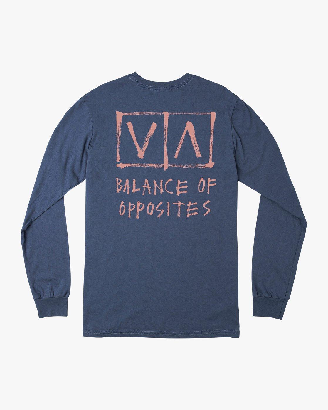 0 Ben Horton Box Long Sleeve T-Shirt Blue M451URHO RVCA
