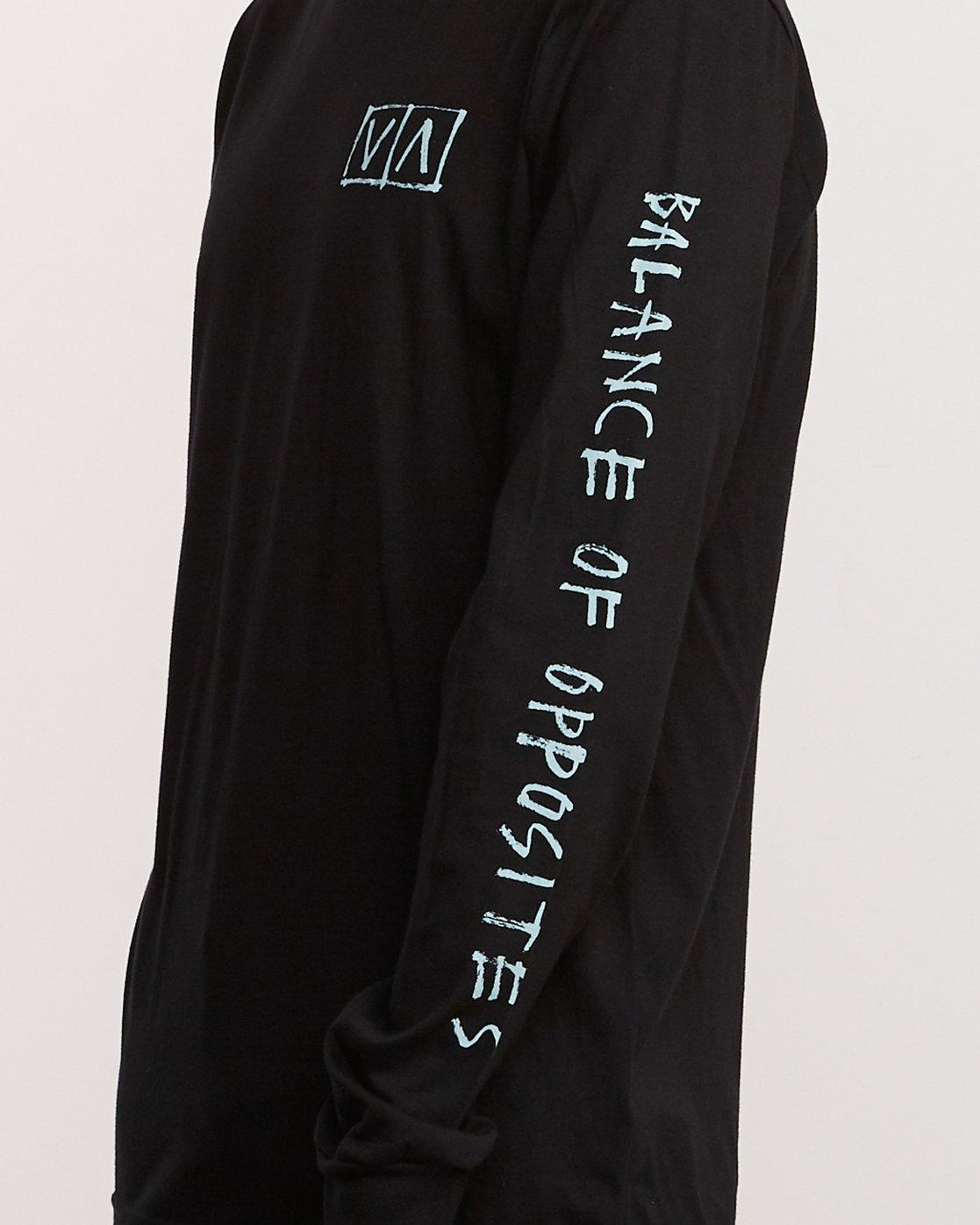 5 Ben Horton Box Long Sleeve T-Shirt Black M451URHO RVCA