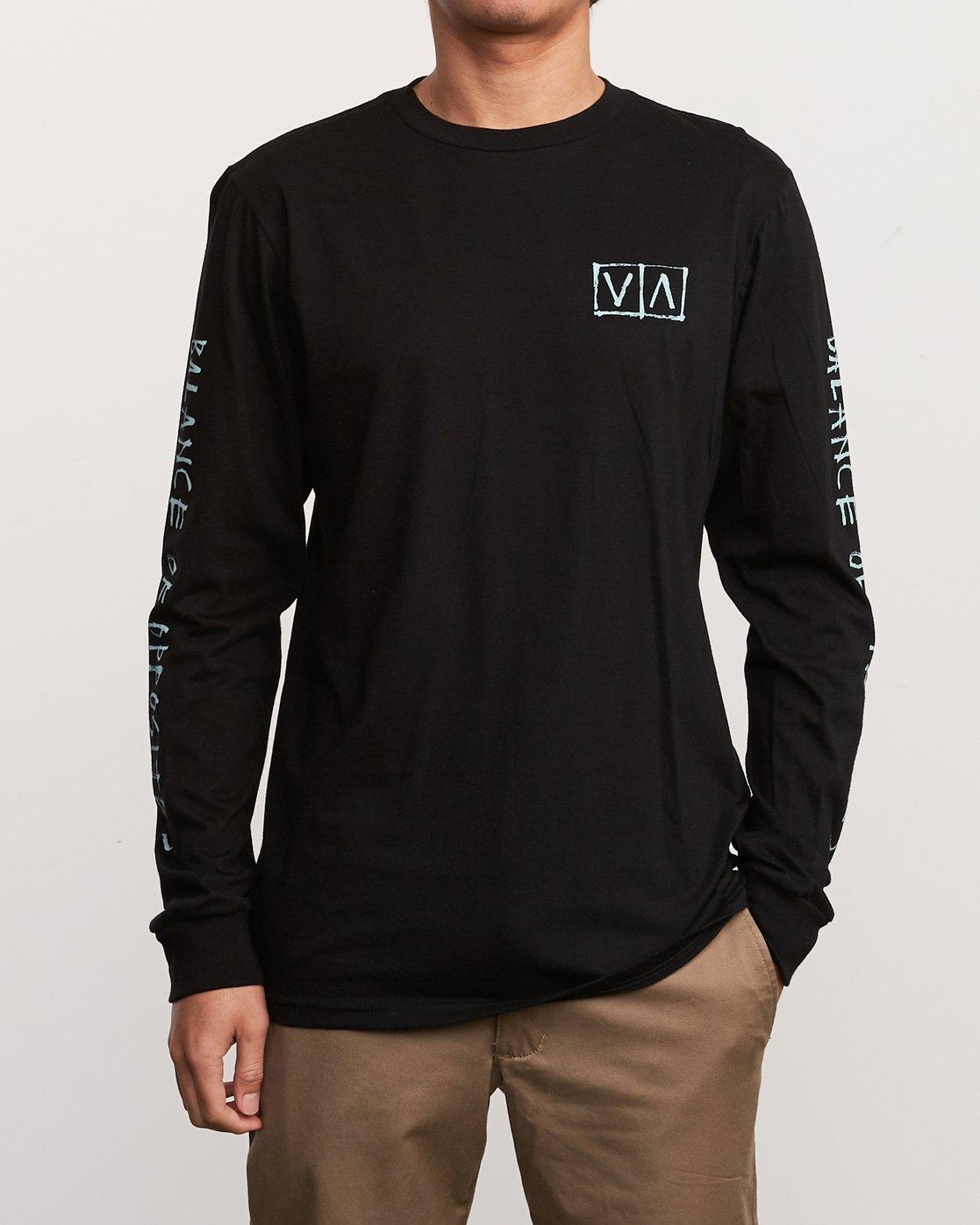 2 Ben Horton Box Long Sleeve T-Shirt Black M451URHO RVCA