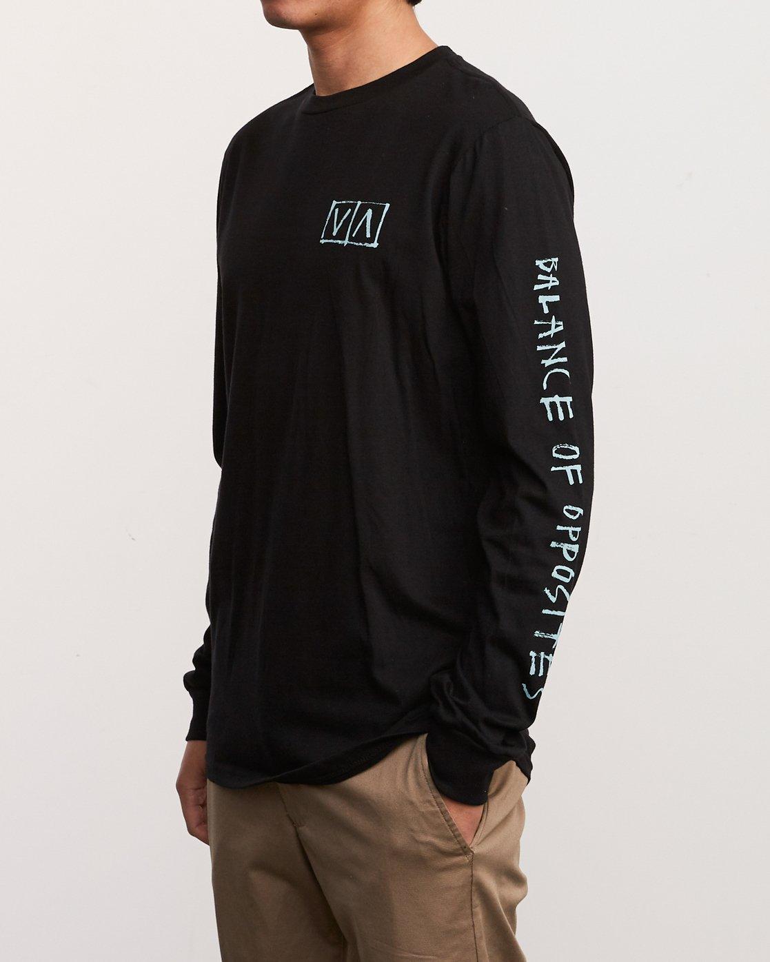 3 Ben Horton Box Long Sleeve T-Shirt Black M451URHO RVCA