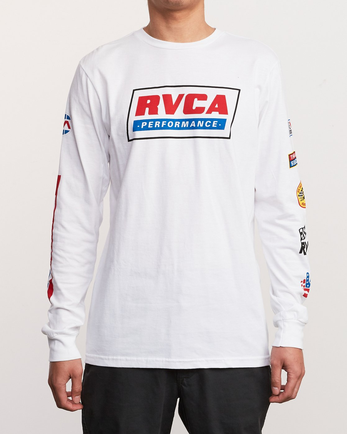 3 Indianapolis Long Sleeve T-Shirt White M451URIN RVCA