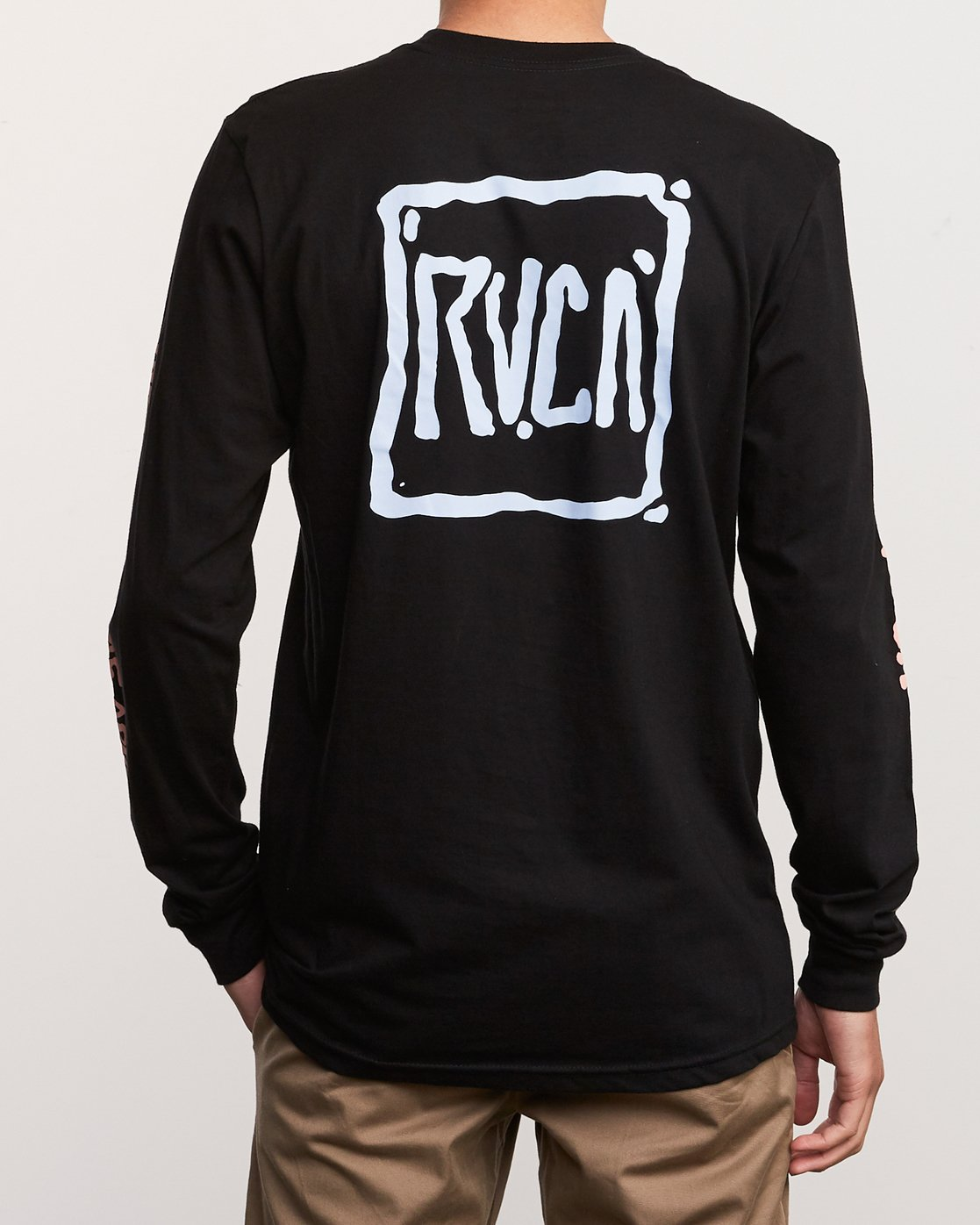 4 Sludged Long Sleeve T-Shirt Black M451URSL RVCA