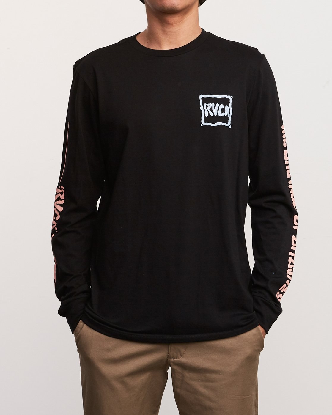 2 Sludged Long Sleeve TEE Black M451URSL RVCA