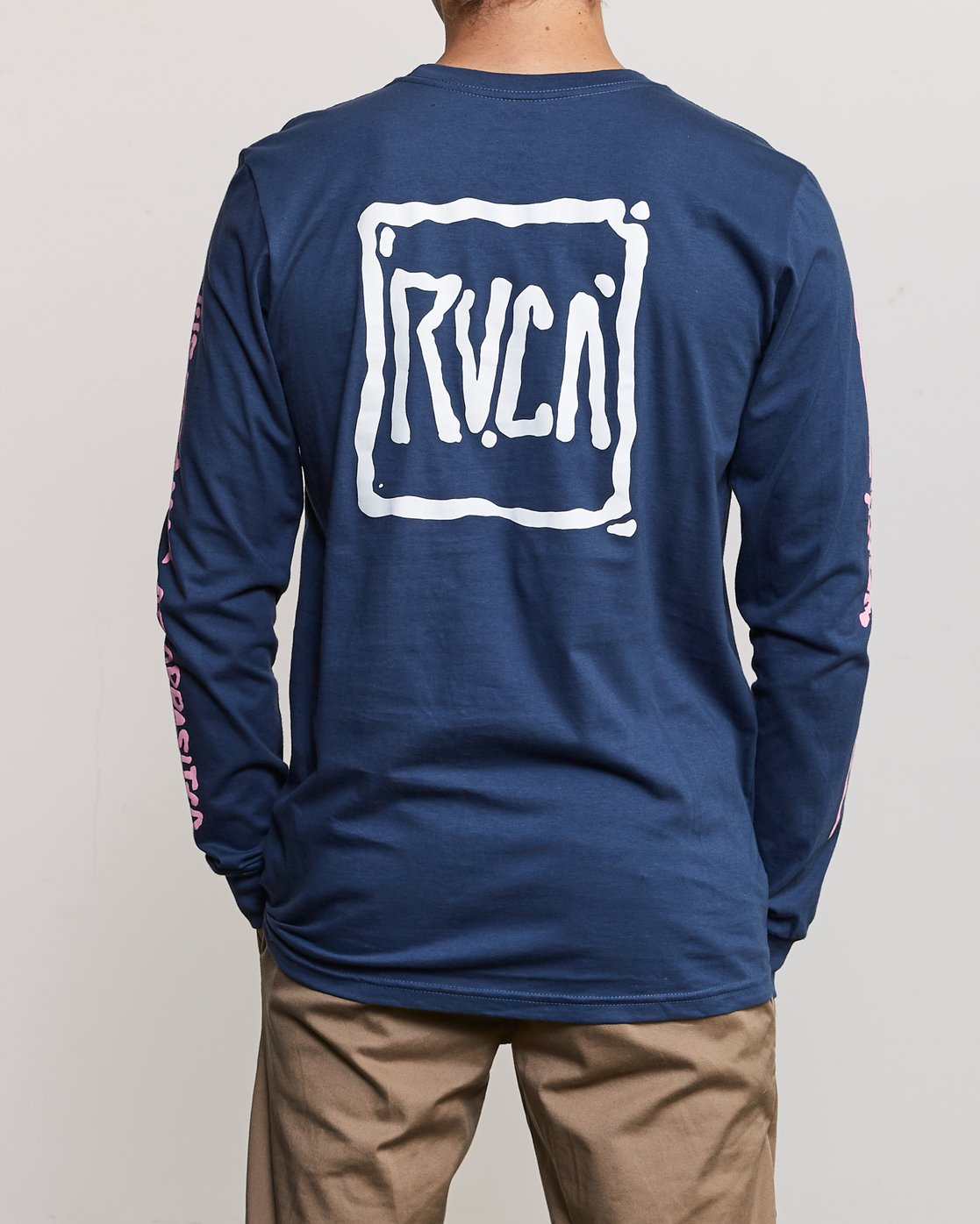 5 Sludged Long Sleeve T-Shirt Blue M451URSL RVCA